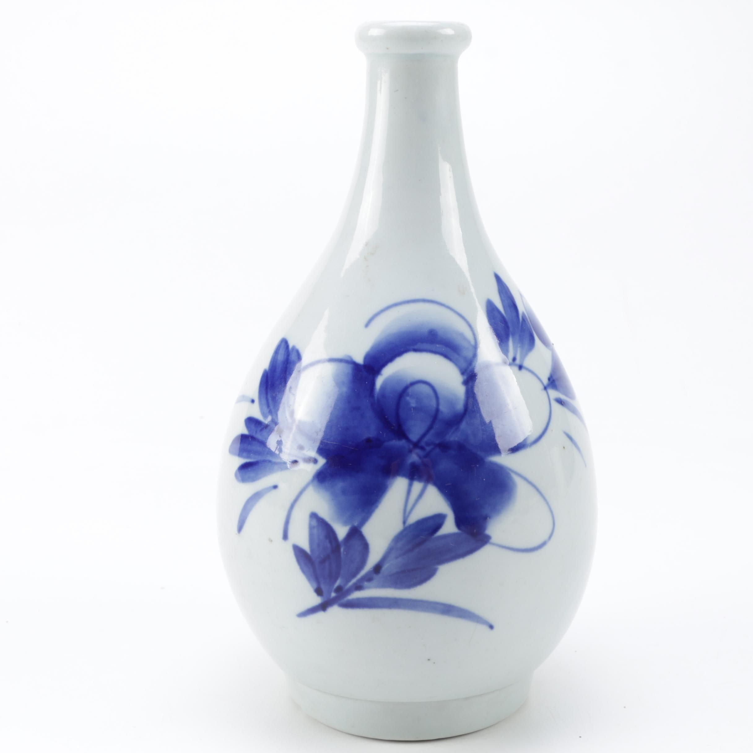 Antique Porcelain Saki Bottle