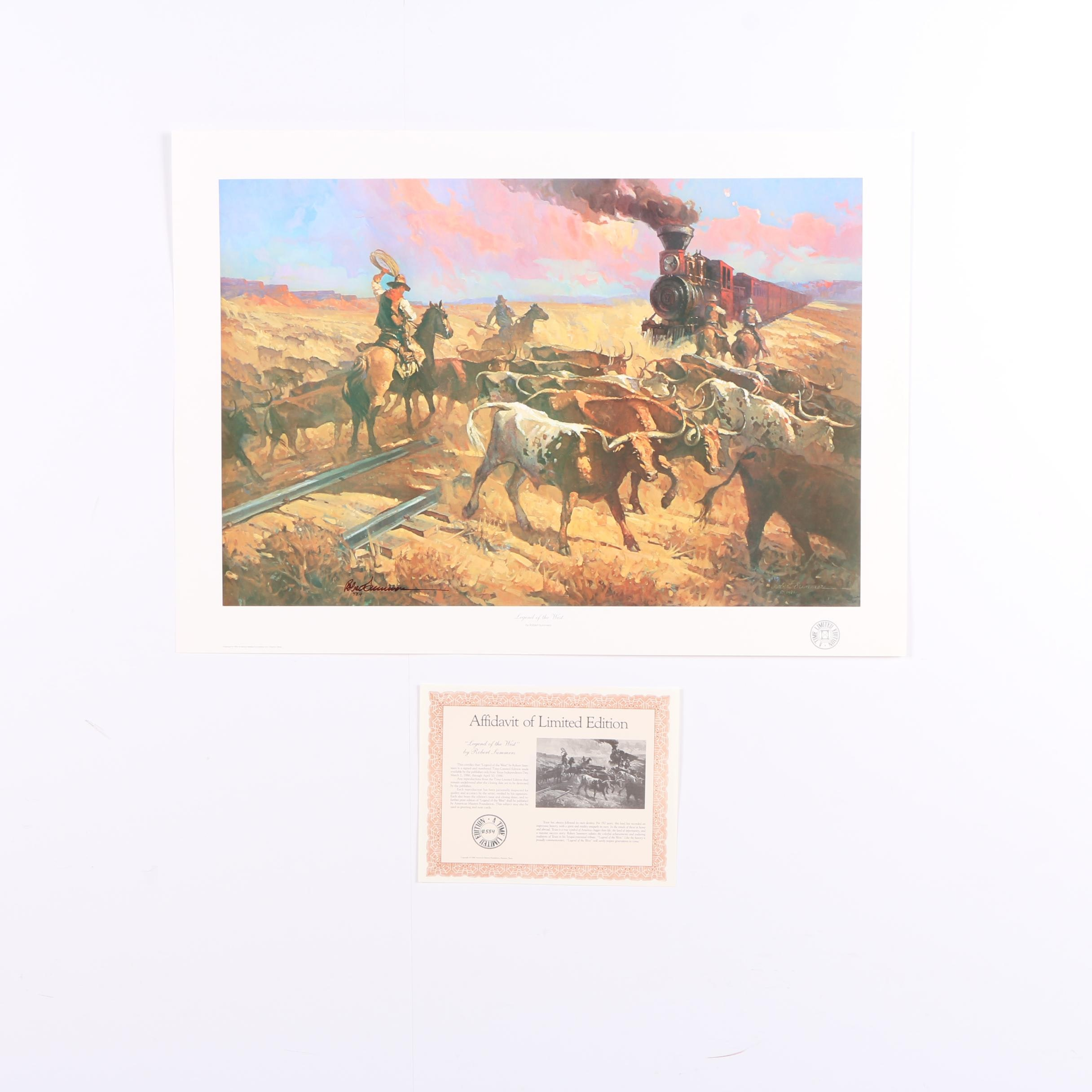 "Robert Summers Limited Edition Offset Lithograph ""Legend of the West"""