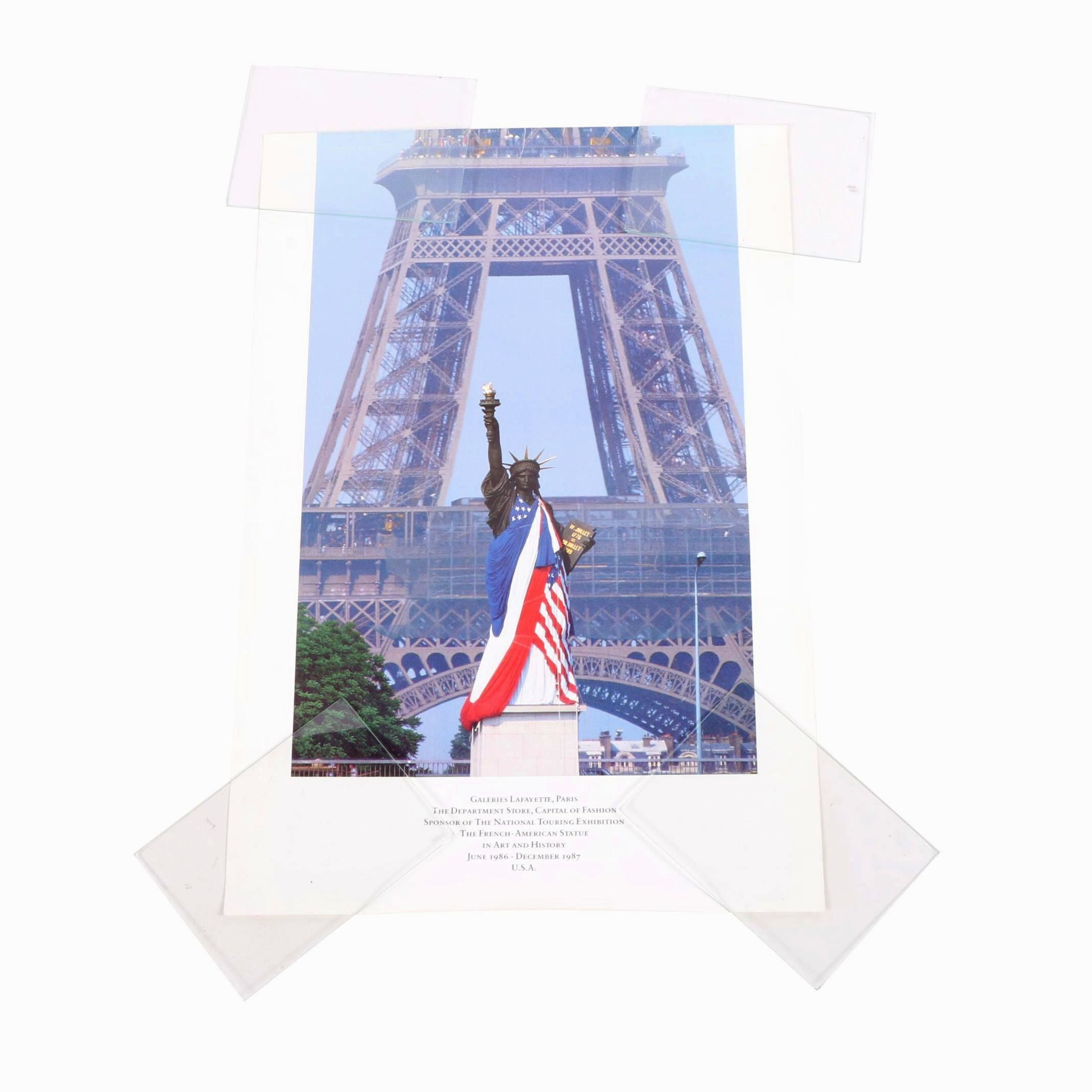 "Offset Lithograph Poster ""Galleries Lafayette, Paris"""