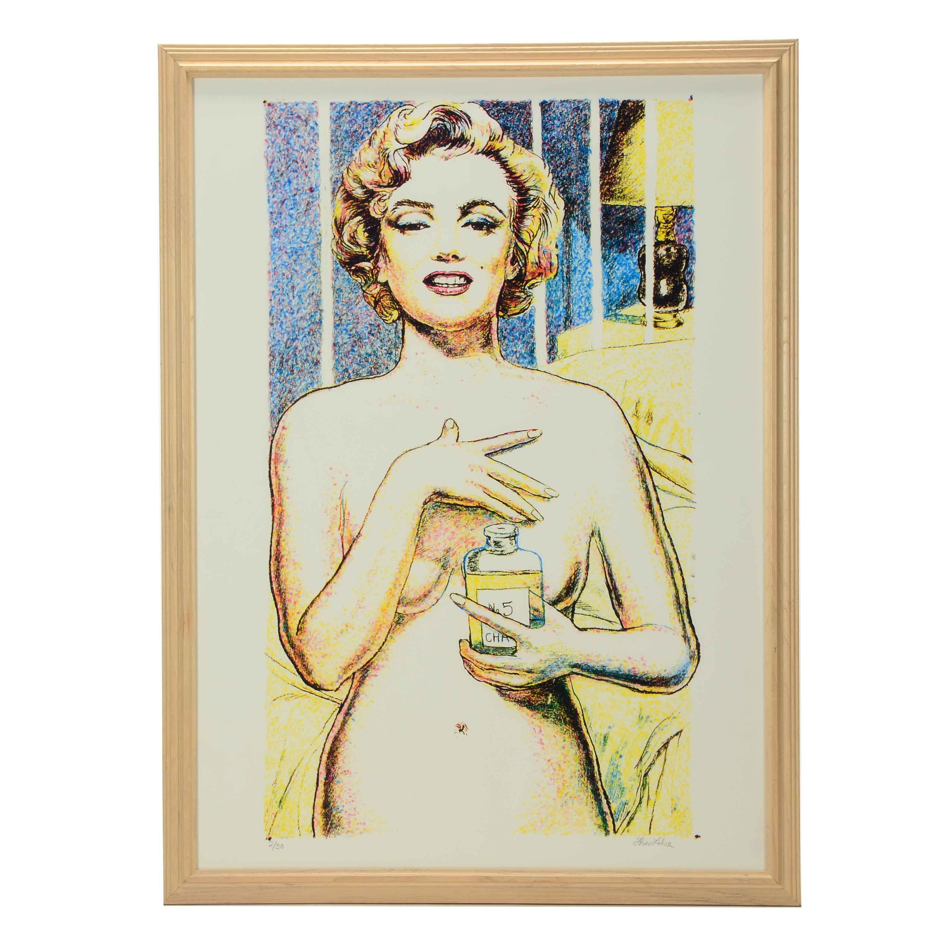 Tom Lohre Signed Limited Edition Serigraph of Marilyn Monroe