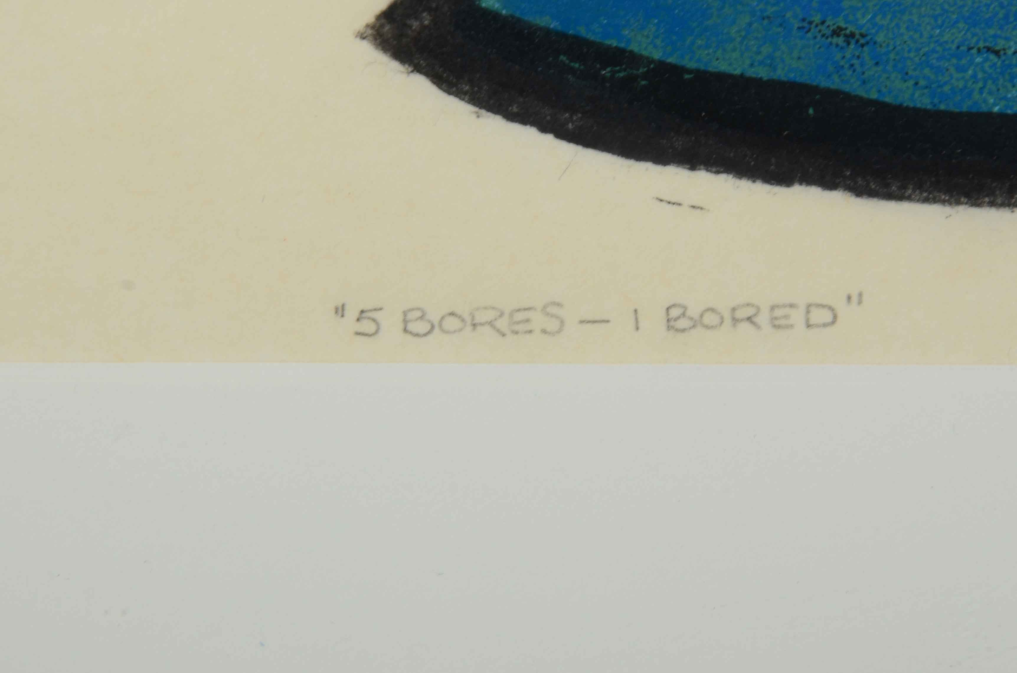 Wallace Kelly Signed Cubist Serigraph Quot 5 Bores 1 Bored