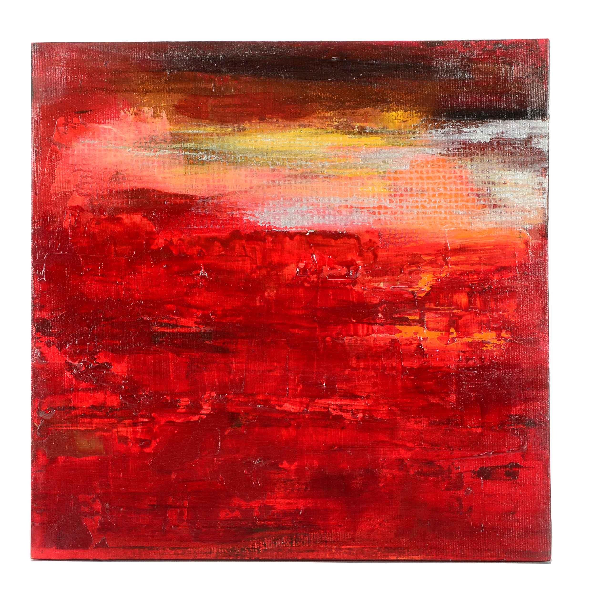 "Original Acrylic Painting on Canvas ""Eclipse"""