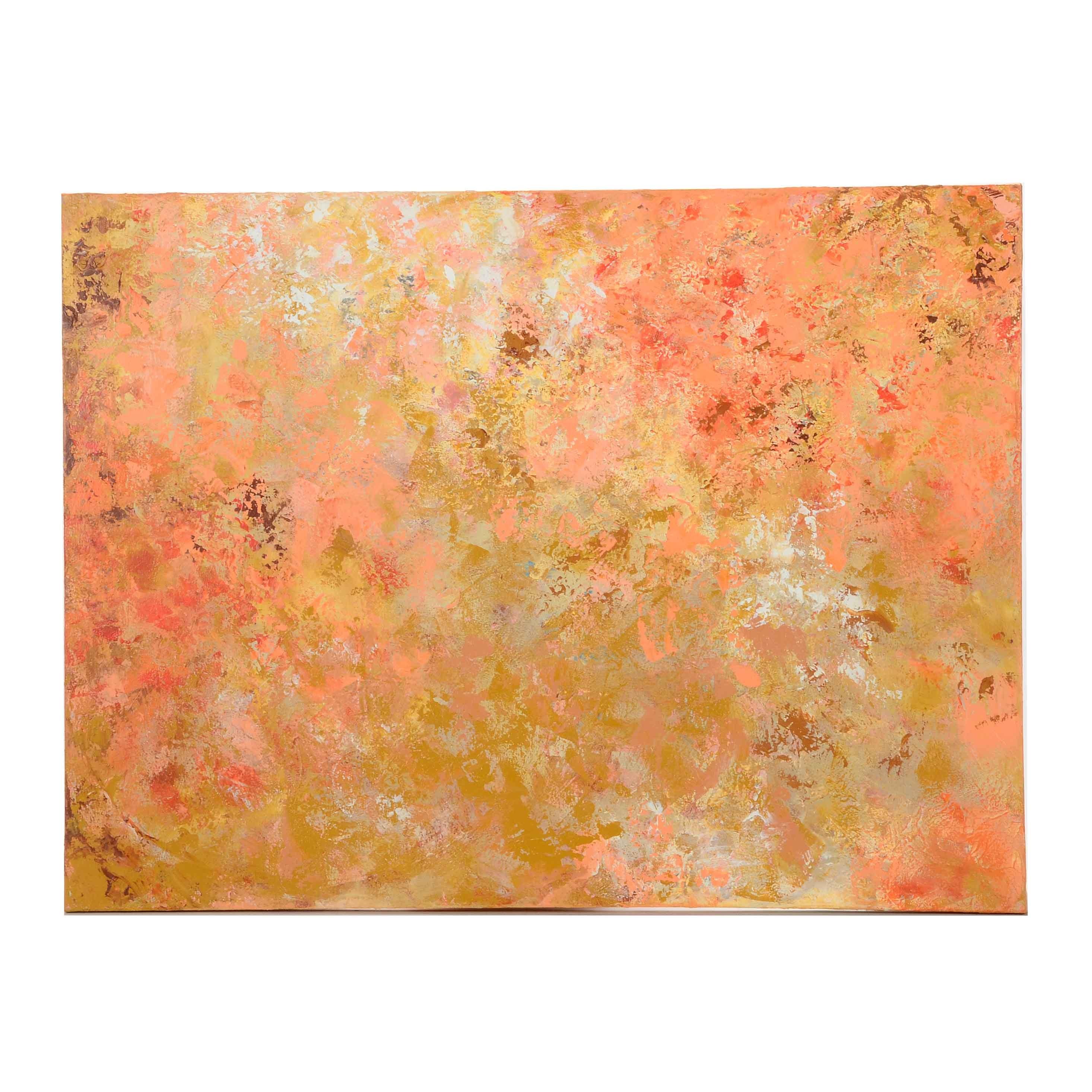 """Sanna Signed Original Abstract Acrylic Painting """"Early Spring Dream"""""""