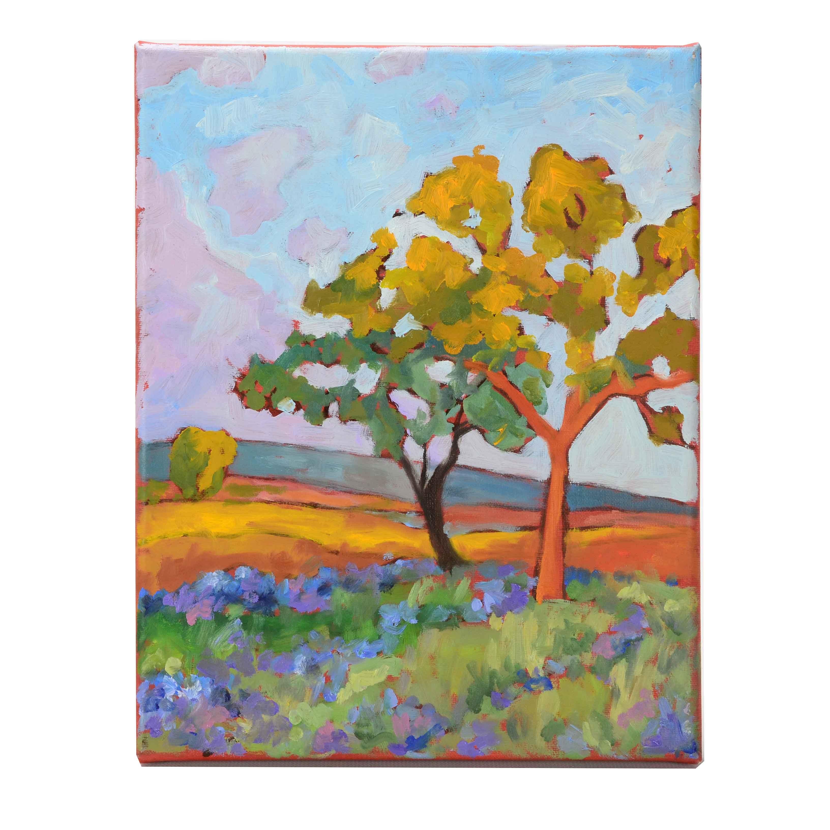 Original Oil Painting on Linen of a Landscape