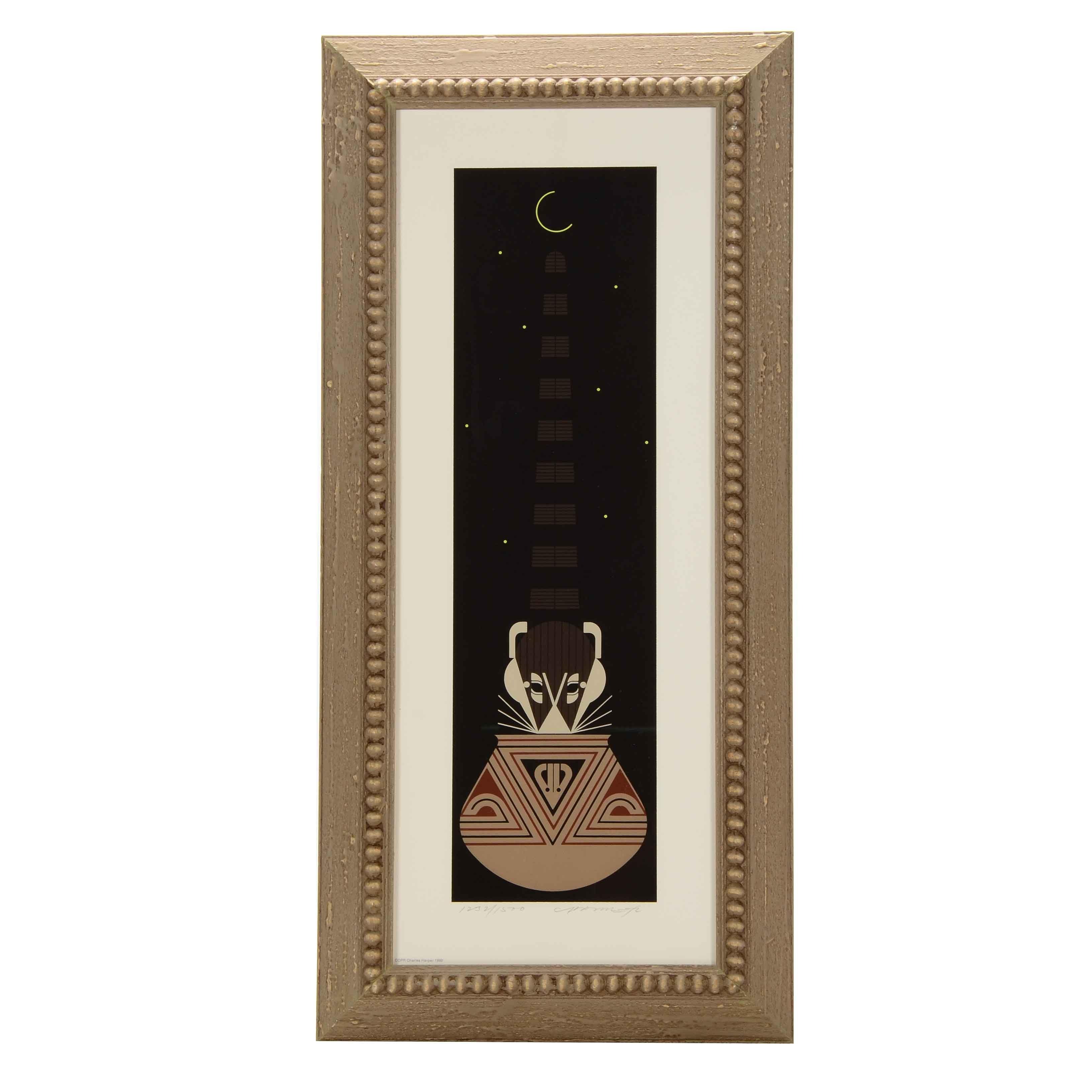 "Charley Harper Limited Edition Serigraph ""Potluck"""
