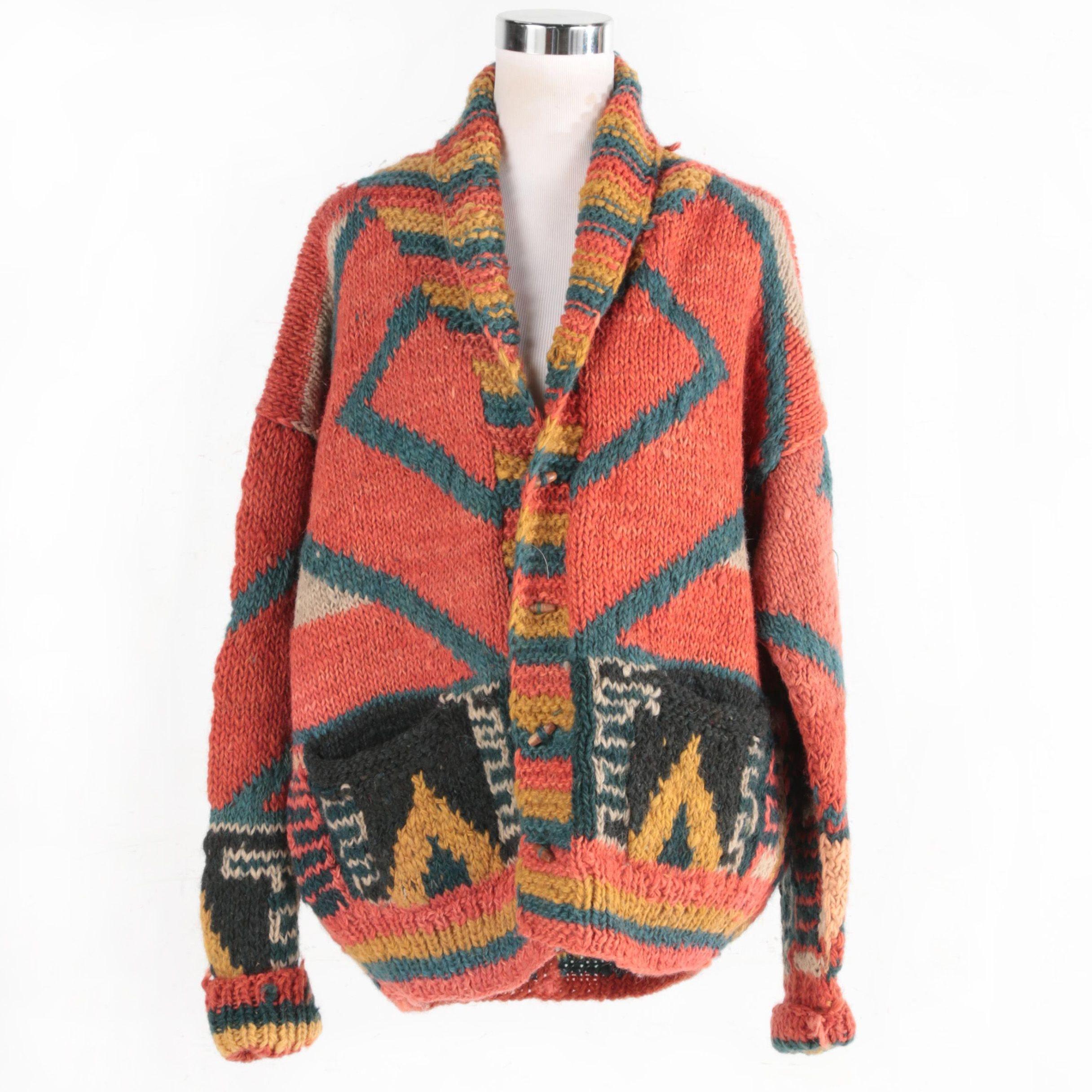 Men's Nepalese Wool Knit Cardigan