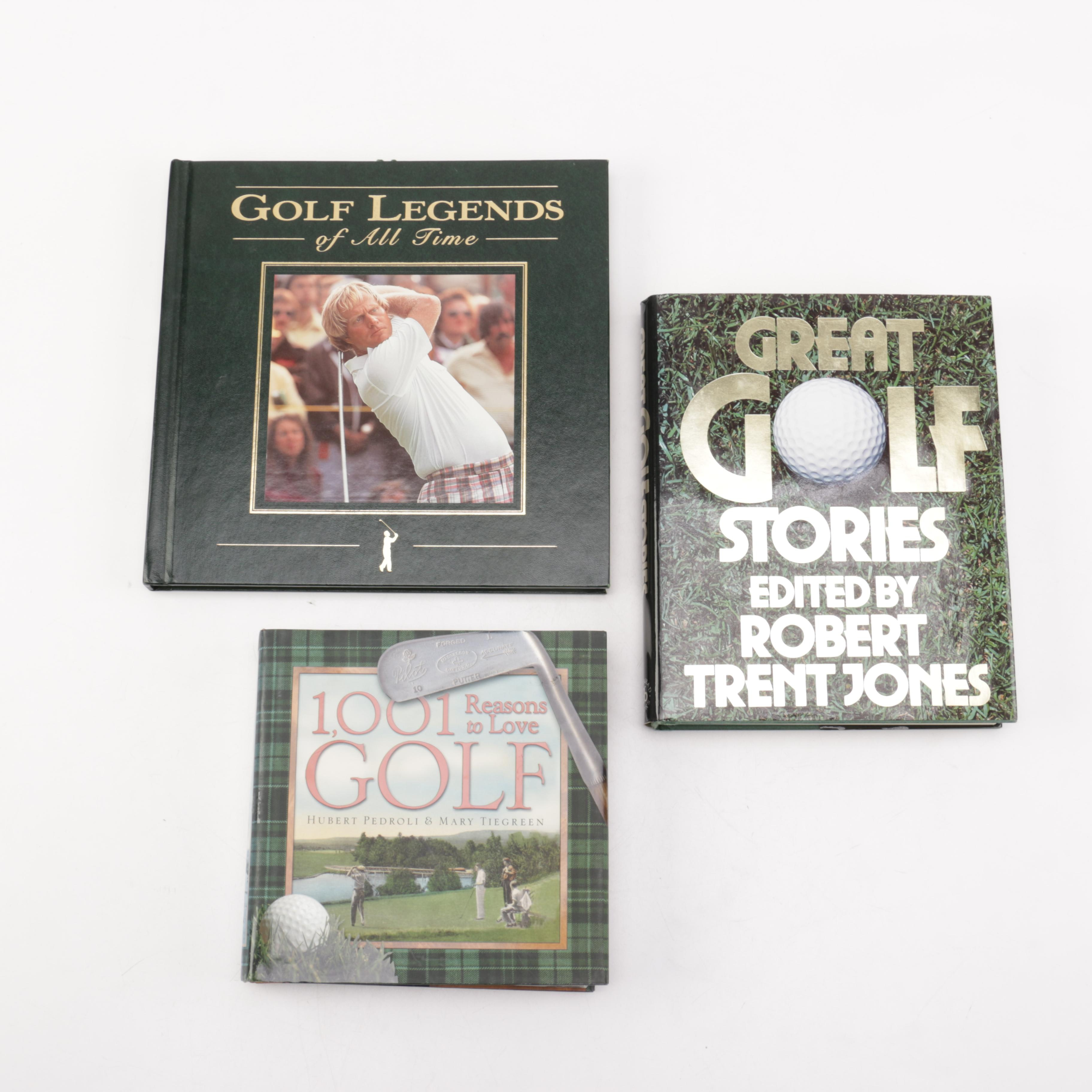 Collection of Three Hardcover Golf Themed Books