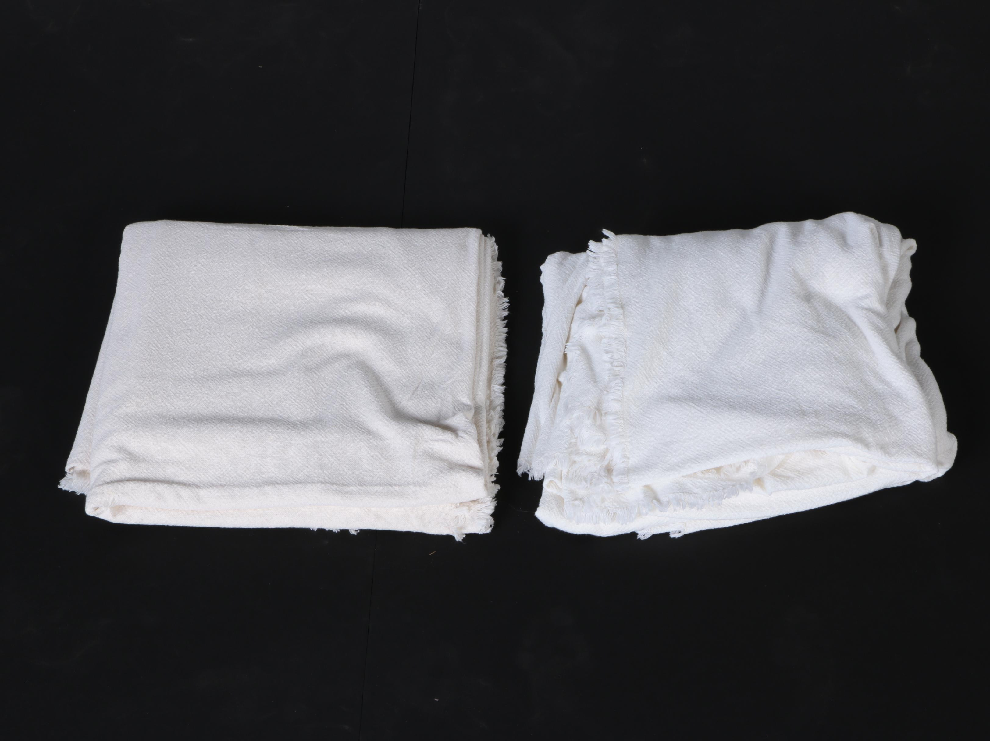 Pair of Woven Table Clothes
