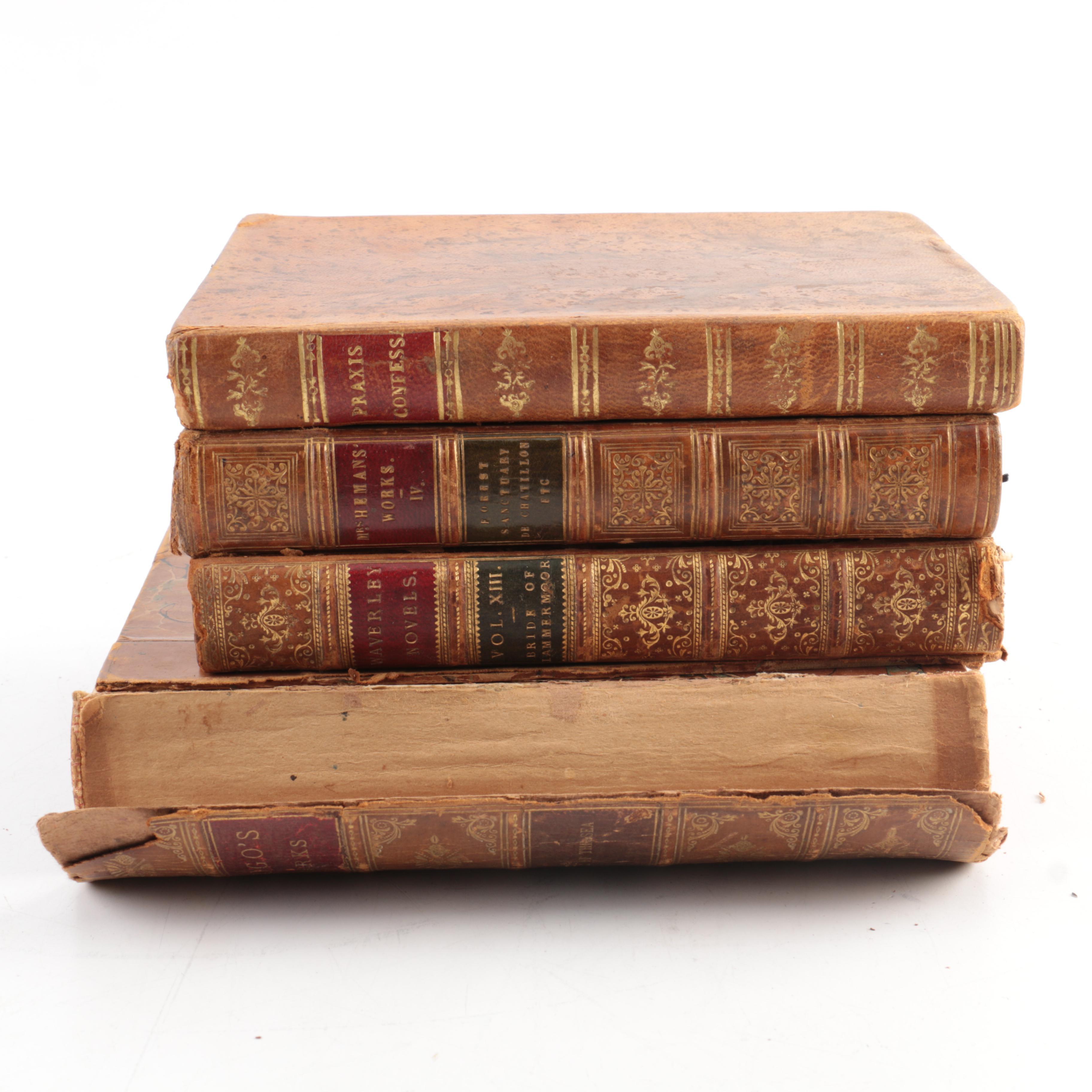 """Antique Books Including 1827 """"Praxis Confessarii"""" of Liguori"""