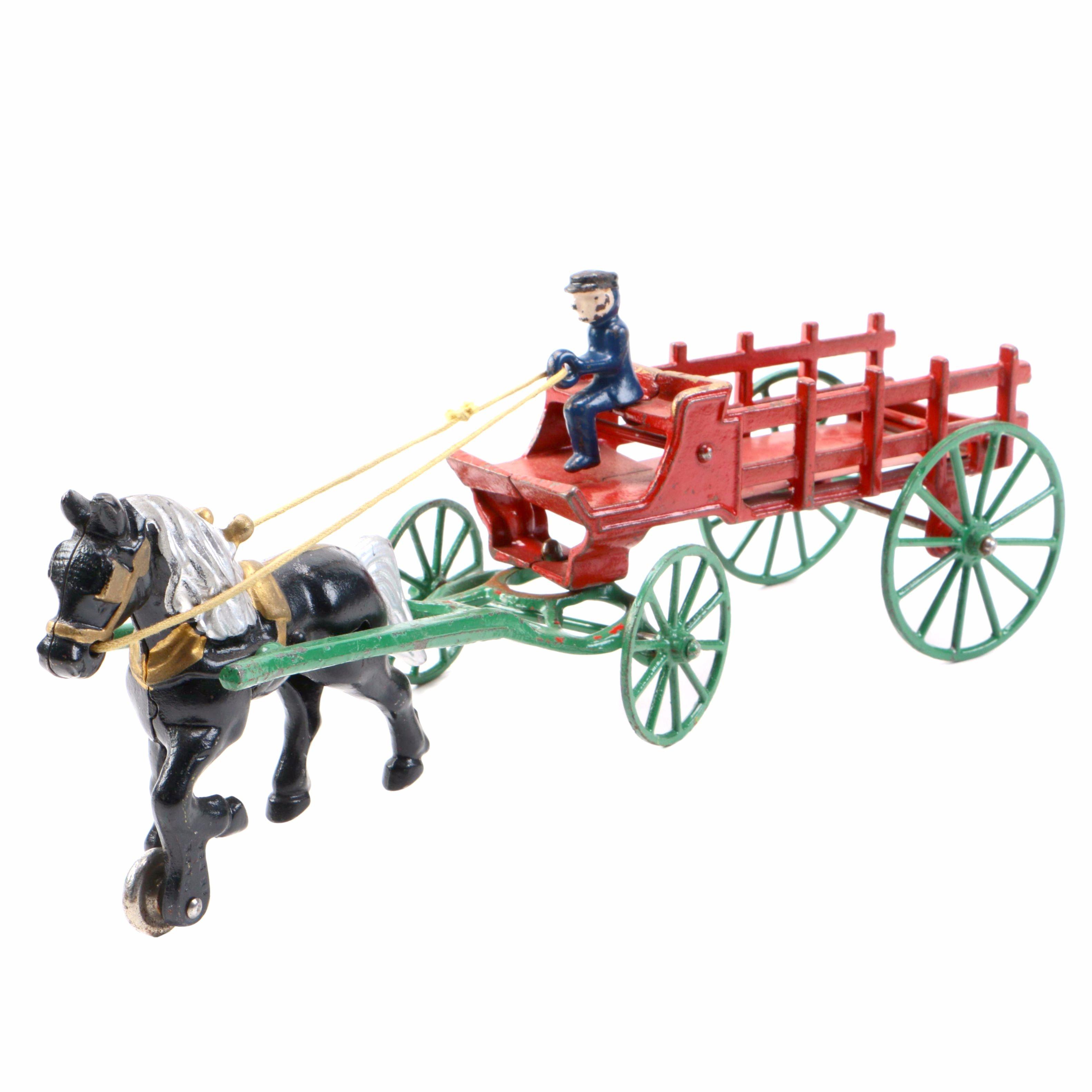 Cast Iron Horse Drawn Wagon