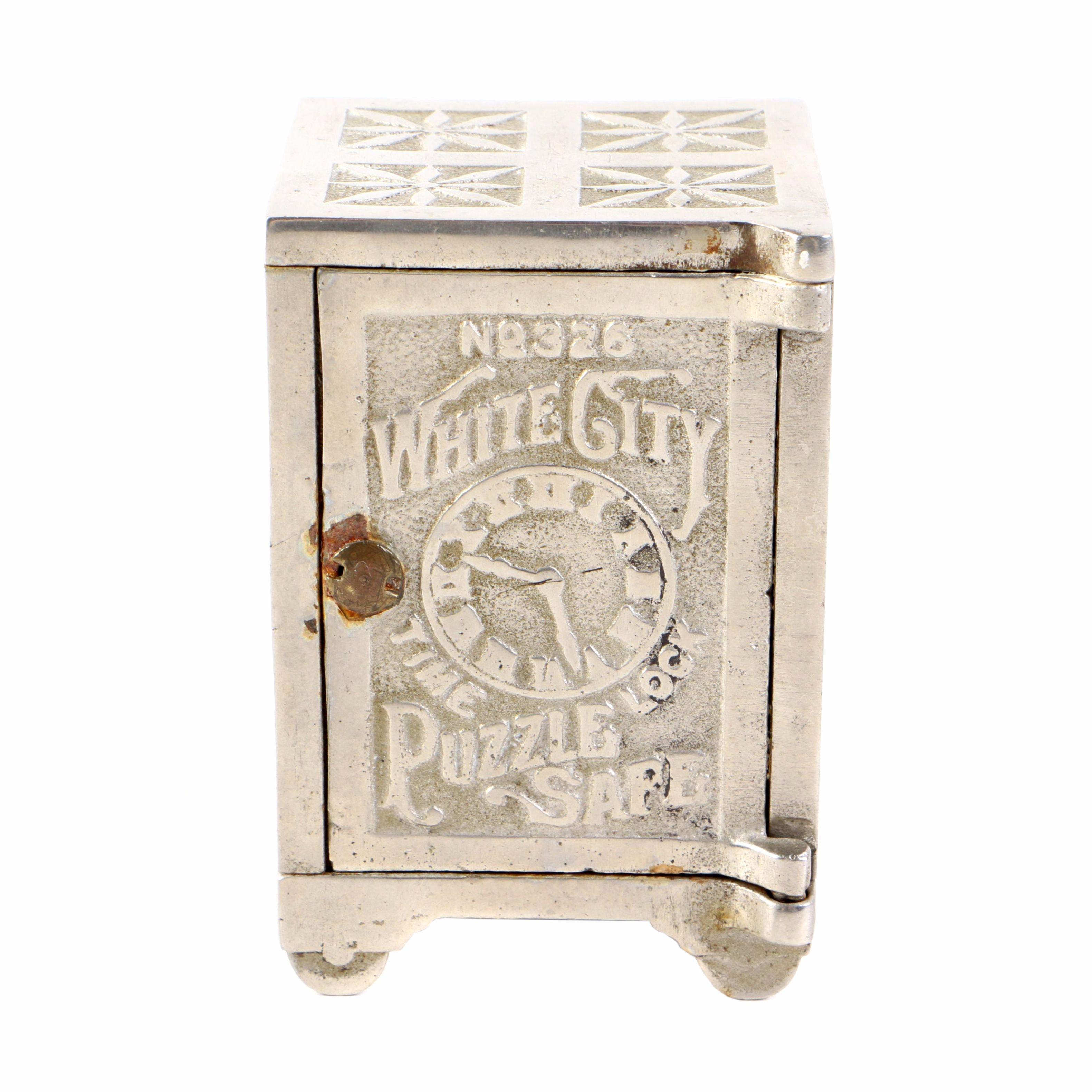 "Antique Nicol & Co. ""White City Puzzle Safe No. 326"" Still Bank"
