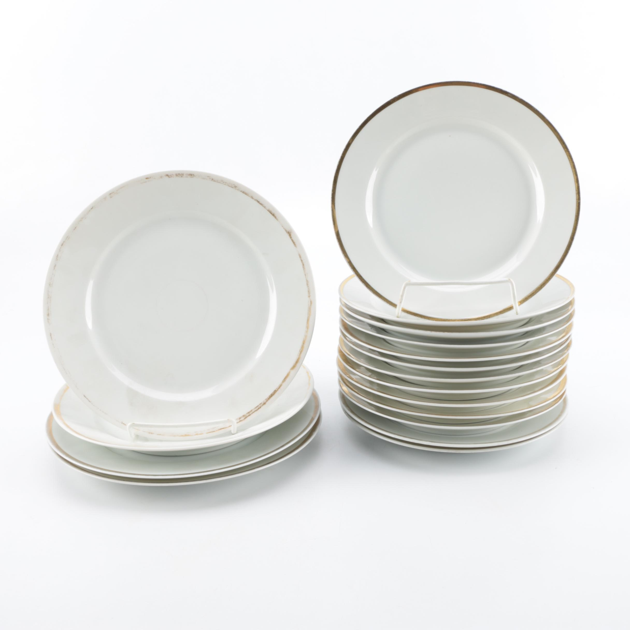 Porcelain Plates Including Antique Delinieres & Co.