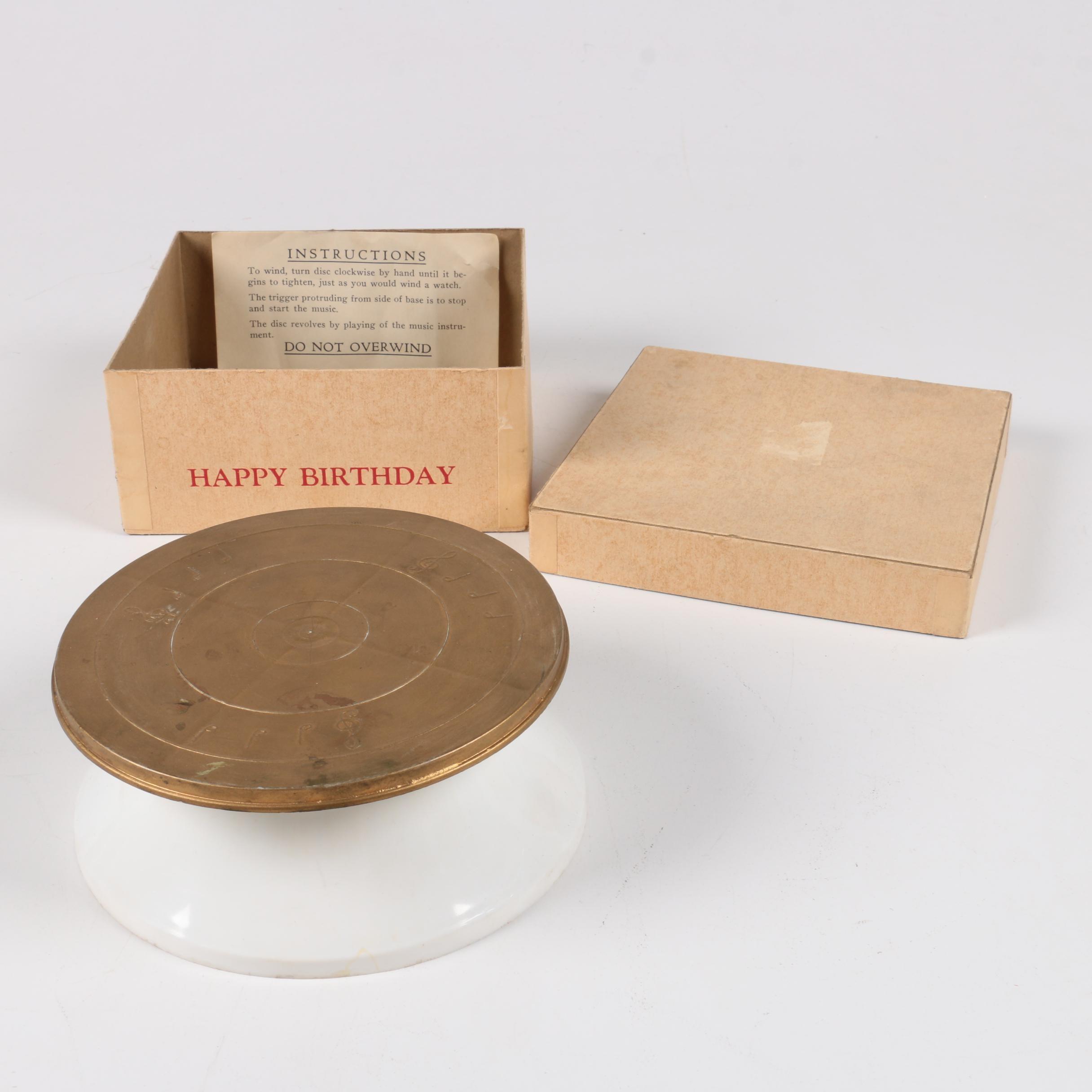 Vintage Happy Birthday Music Box