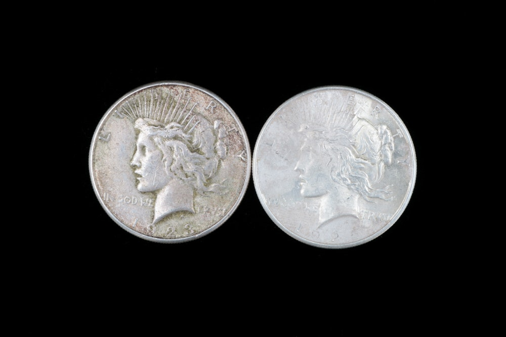 1923-S and 1925 Silver Peace Dollars