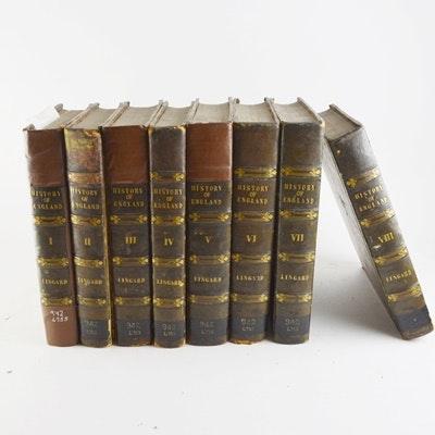 "Rev. John Lingard ""History of England"" Eight Hardcover Books"