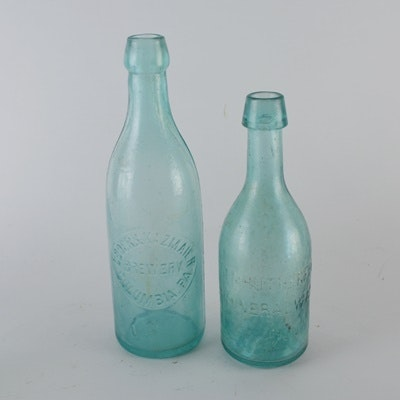 Loder & Kazmaier Brewery and Rutherford Mineral Water Bottle