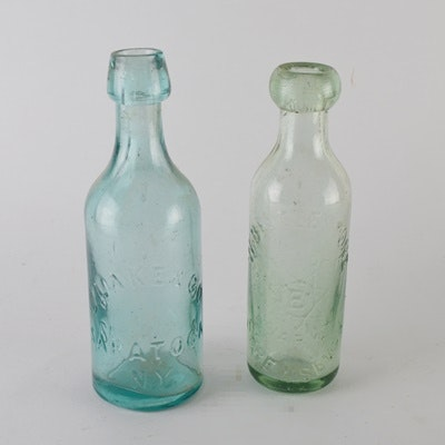 J. Lake and Co. and W. Beetle Stone Glass Bottles
