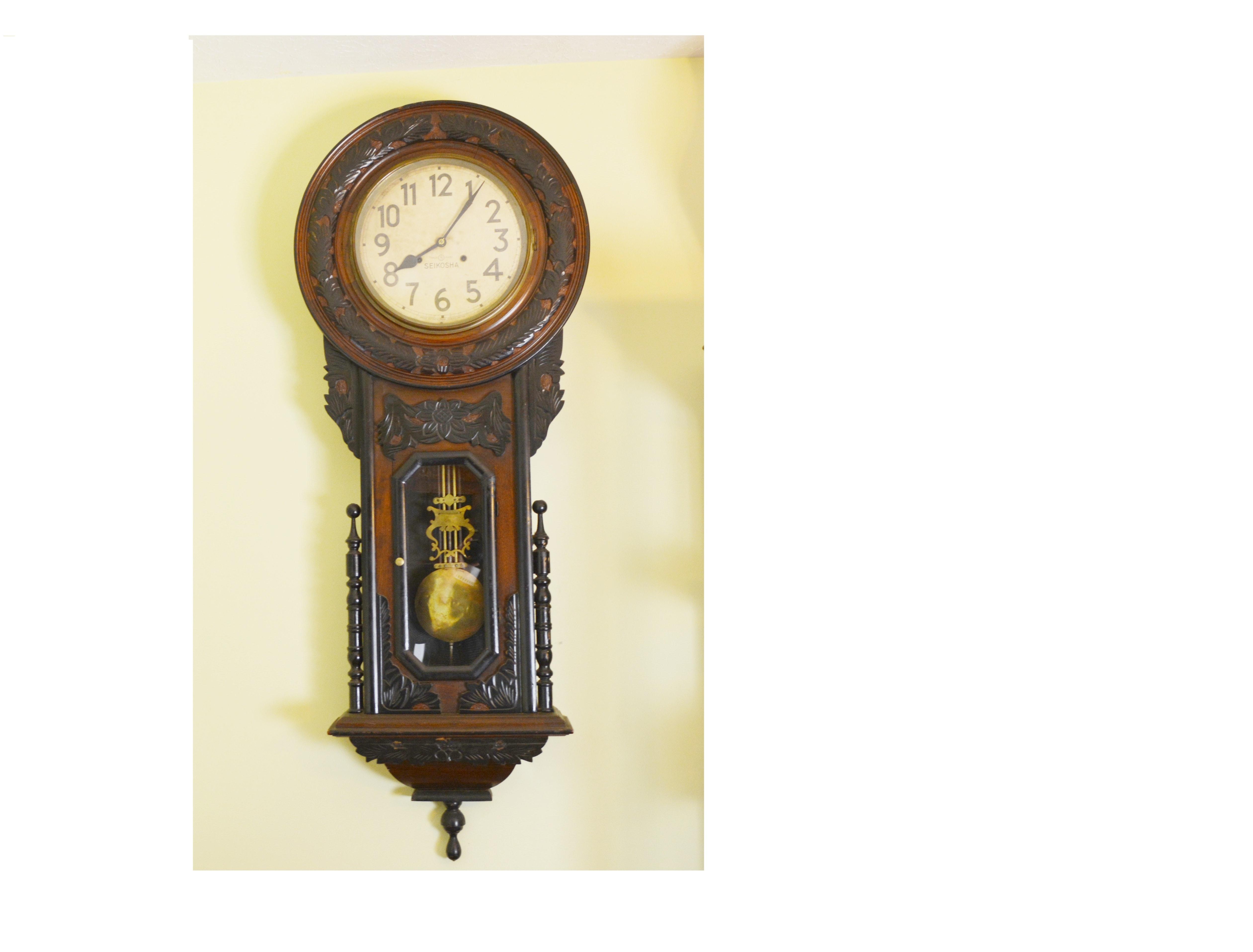 Antique Japanese Seikosha Wall Clock