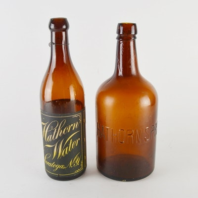 Vintage Hathorn Springs Mineral Water Bottles