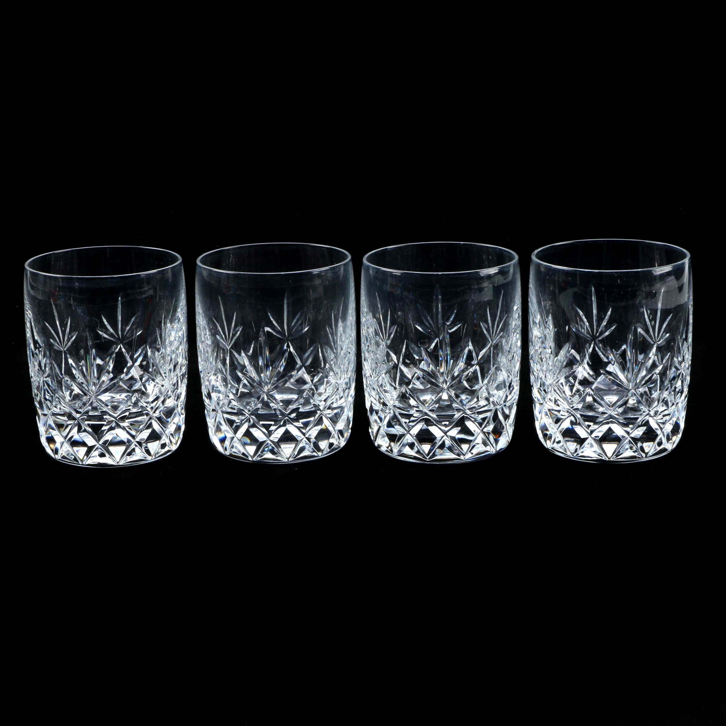"Lenox ""Charleston"" Crystal Old Fashioned Glasses"