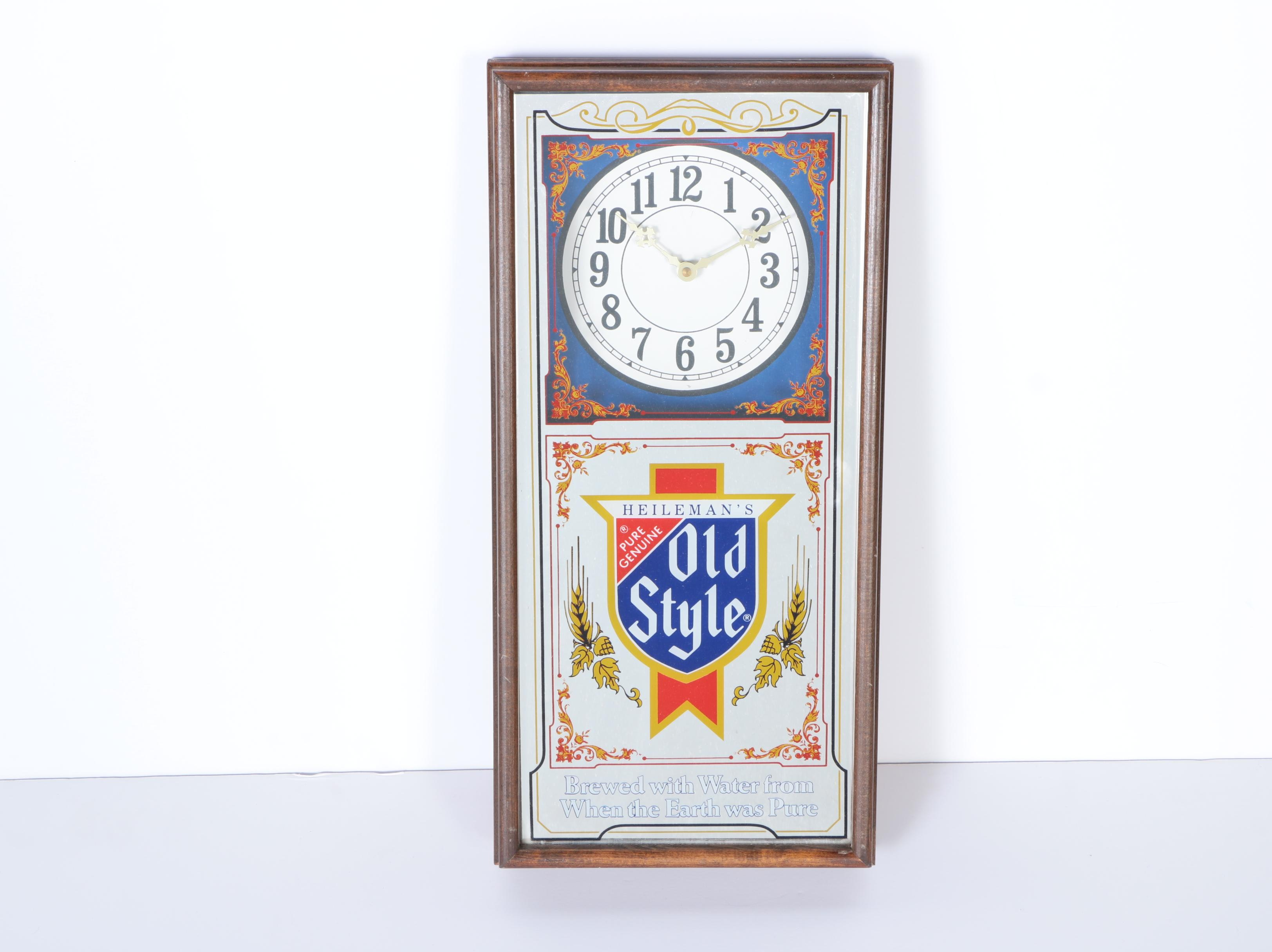 Old Style Beer Illuminated Clock