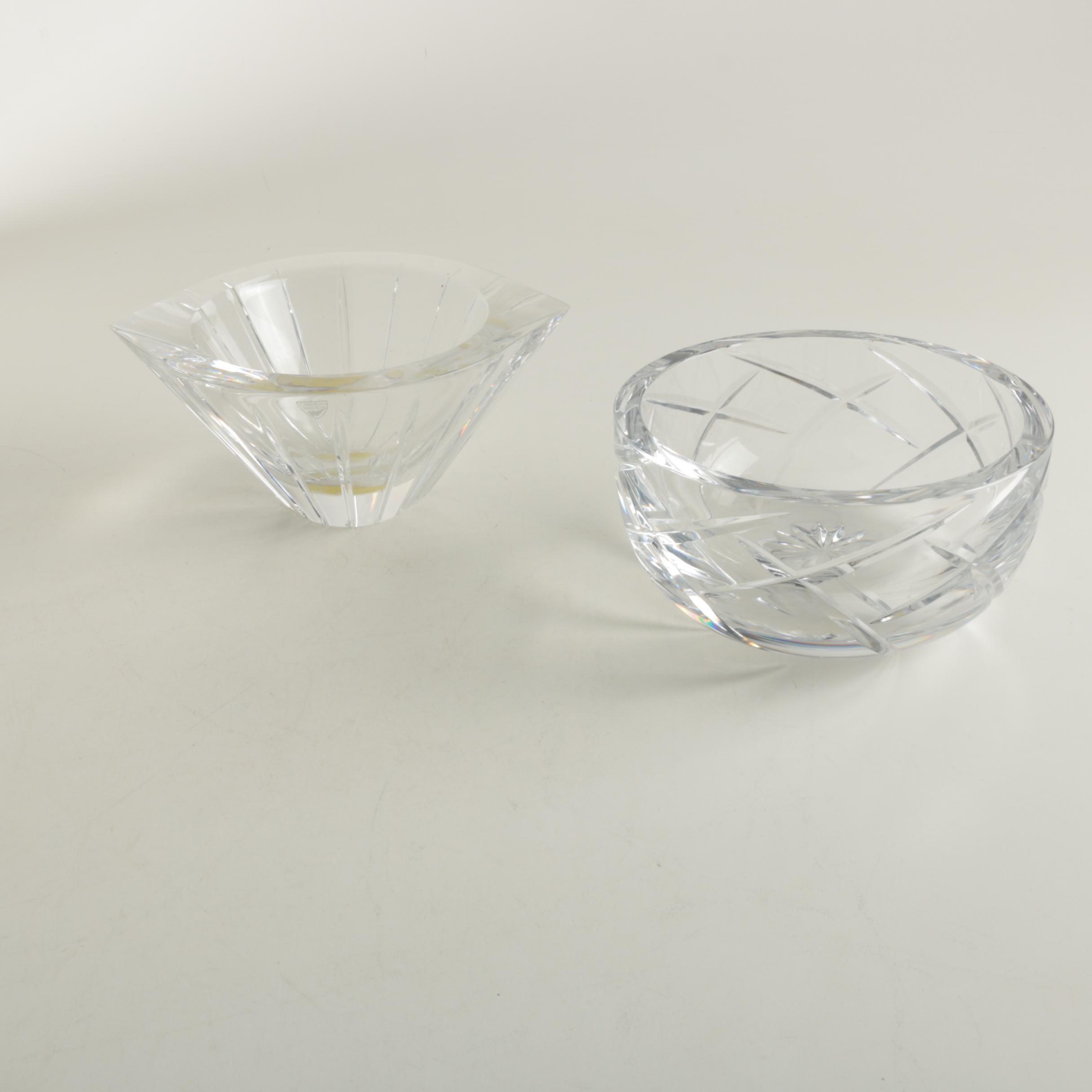 """Orrefors """"Marin Vertical Cut"""" Sweden Crystal Bowl"""