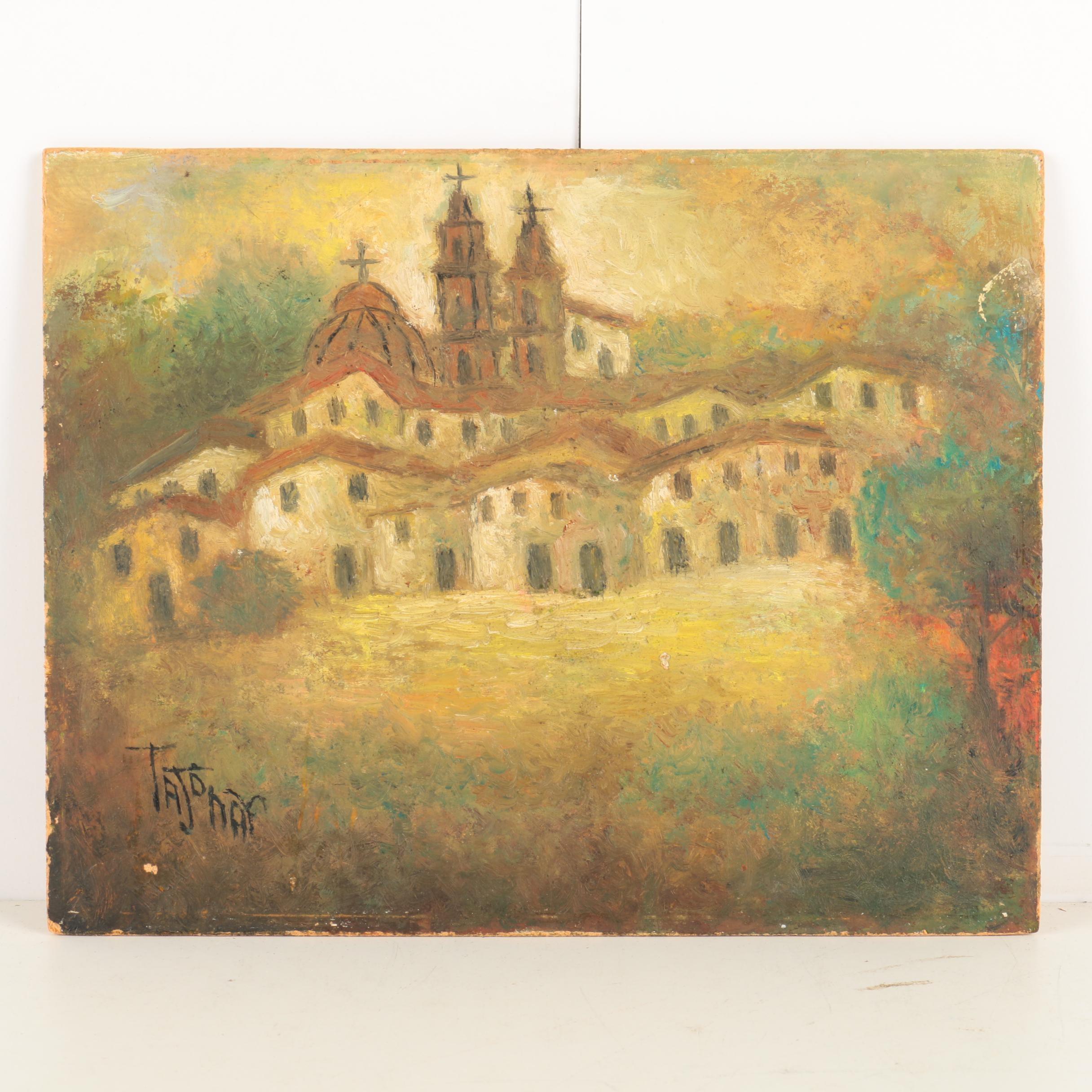 Tajonar Oil Painting on Wooden Panel