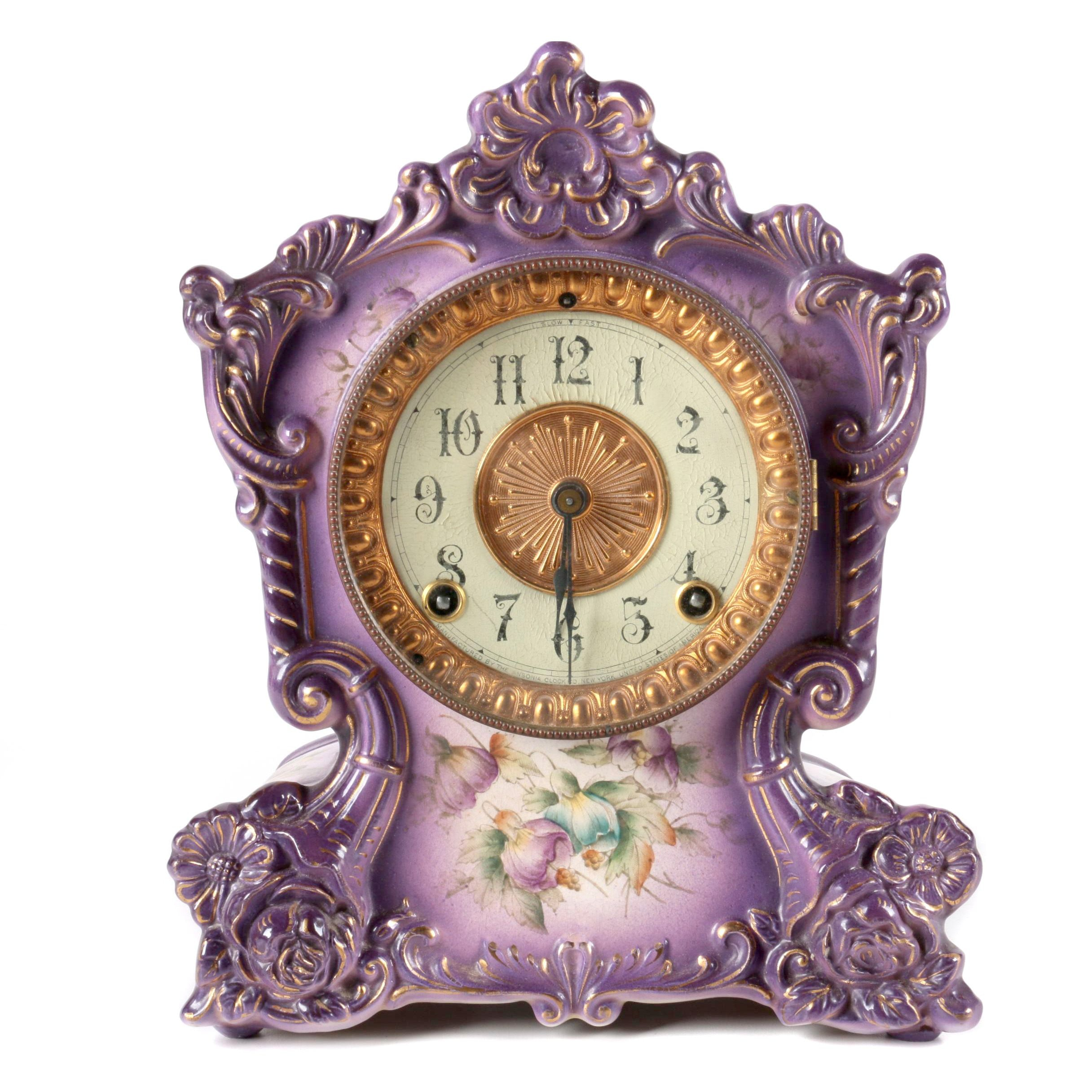 Vintage Mantle Clock by Tonquin