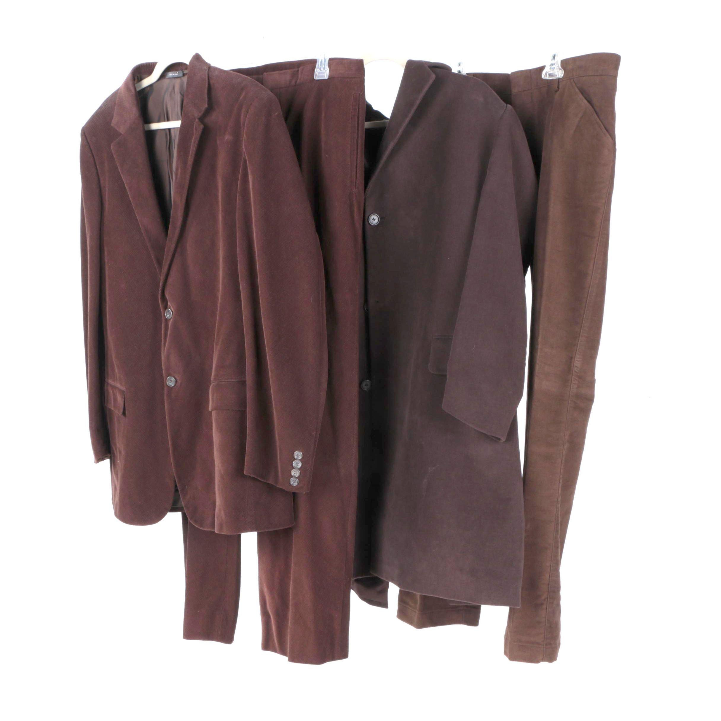 Men's Clothing Items Including Jil Sander Suit