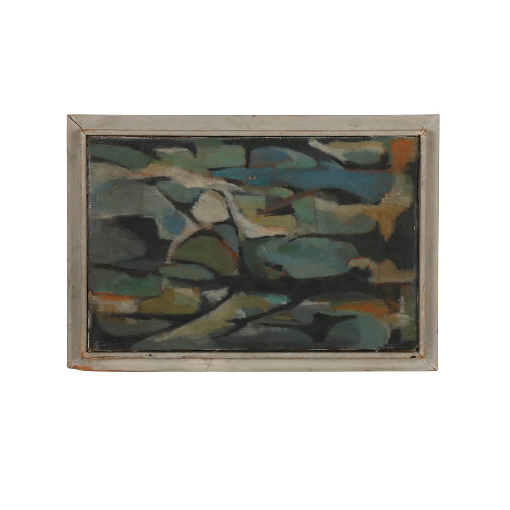 Gail Leff Oil Painting on Canvas of Abstract Scene