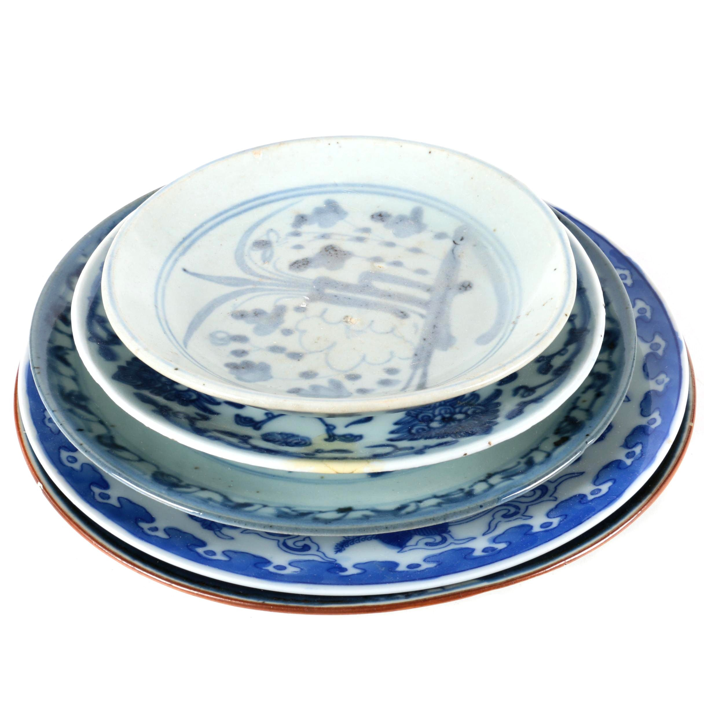 Blue and White Ceramic Plates