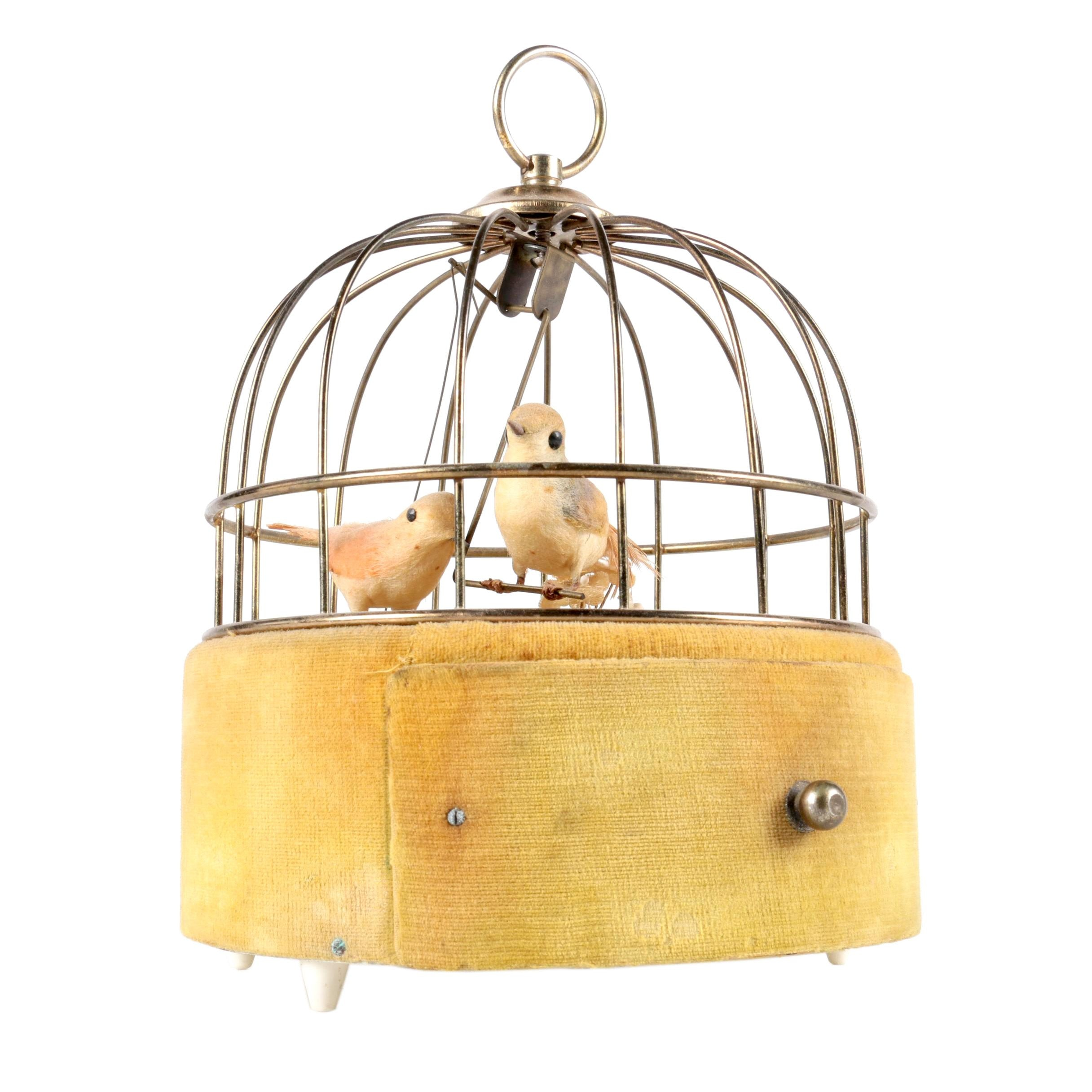 Vintage Mechanical Musical Birdcage
