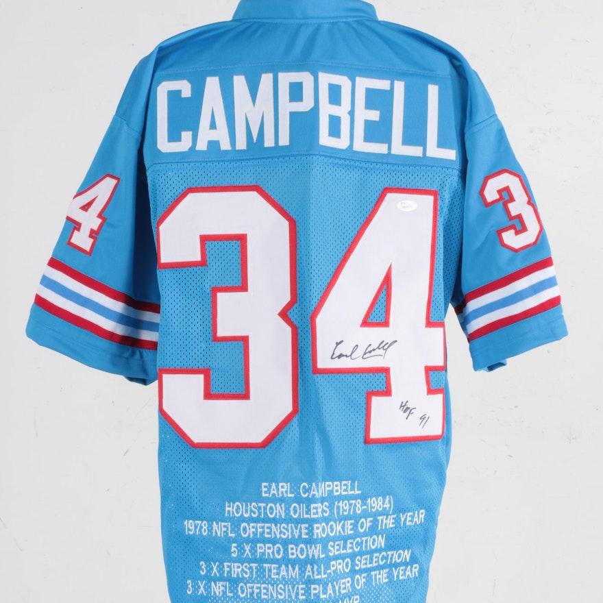 wholesale dealer ad5fb b6084 Earl Campbell Autographed Jersey - JSA COA