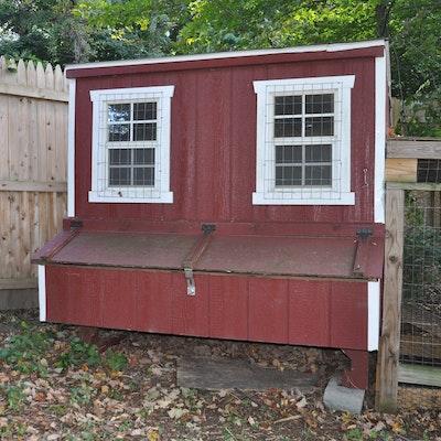 Co Op Garden Furniture Outdoor furniture outdoor decor and garden tools auction in the wooden chicken coop workwithnaturefo