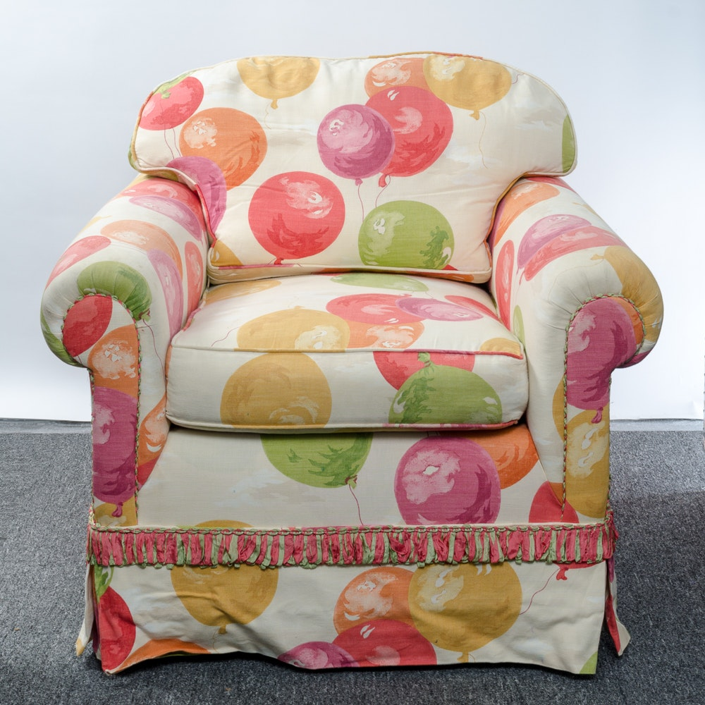 Balloon-Themed Upholstered Armchair