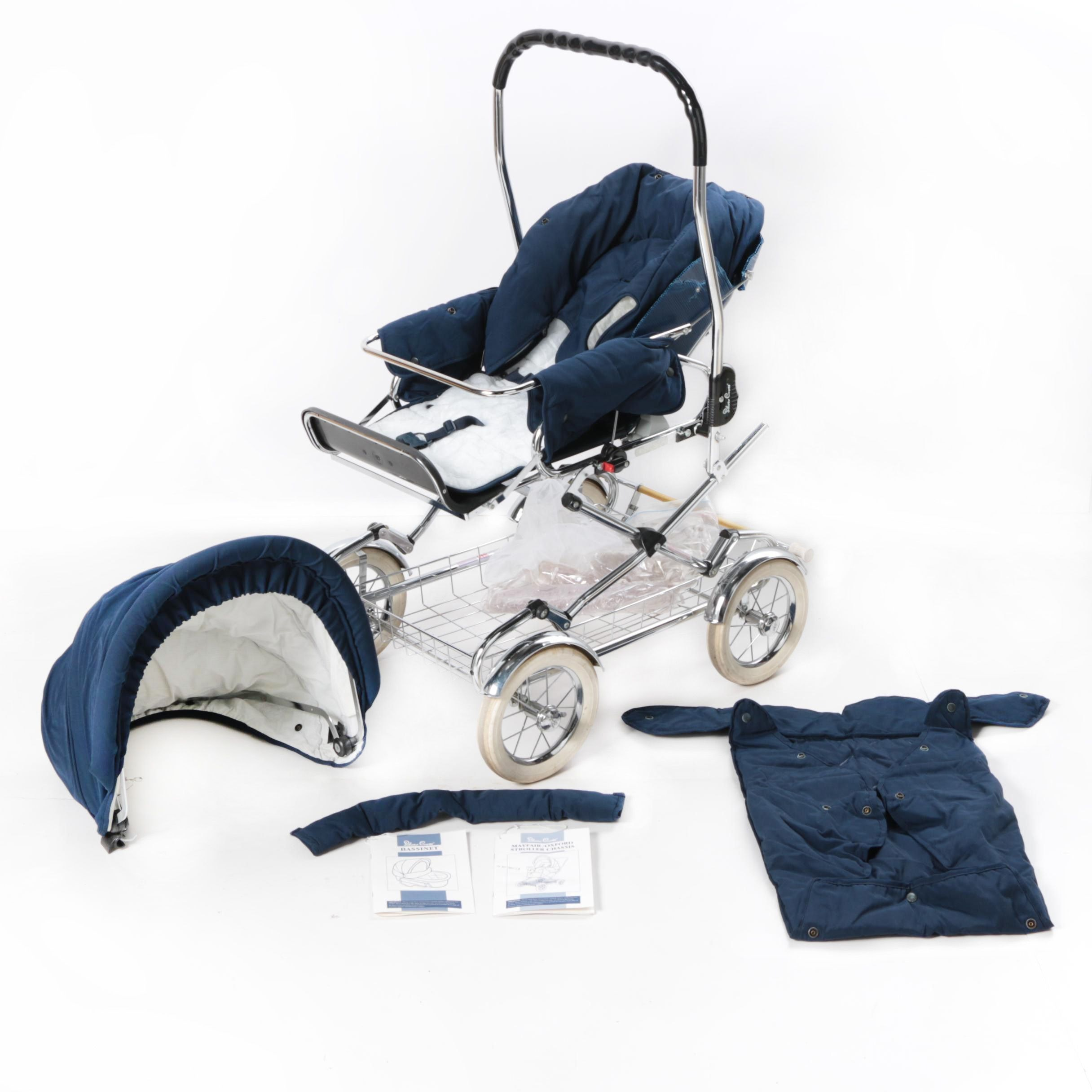 English Silver Cross Baby Carriage