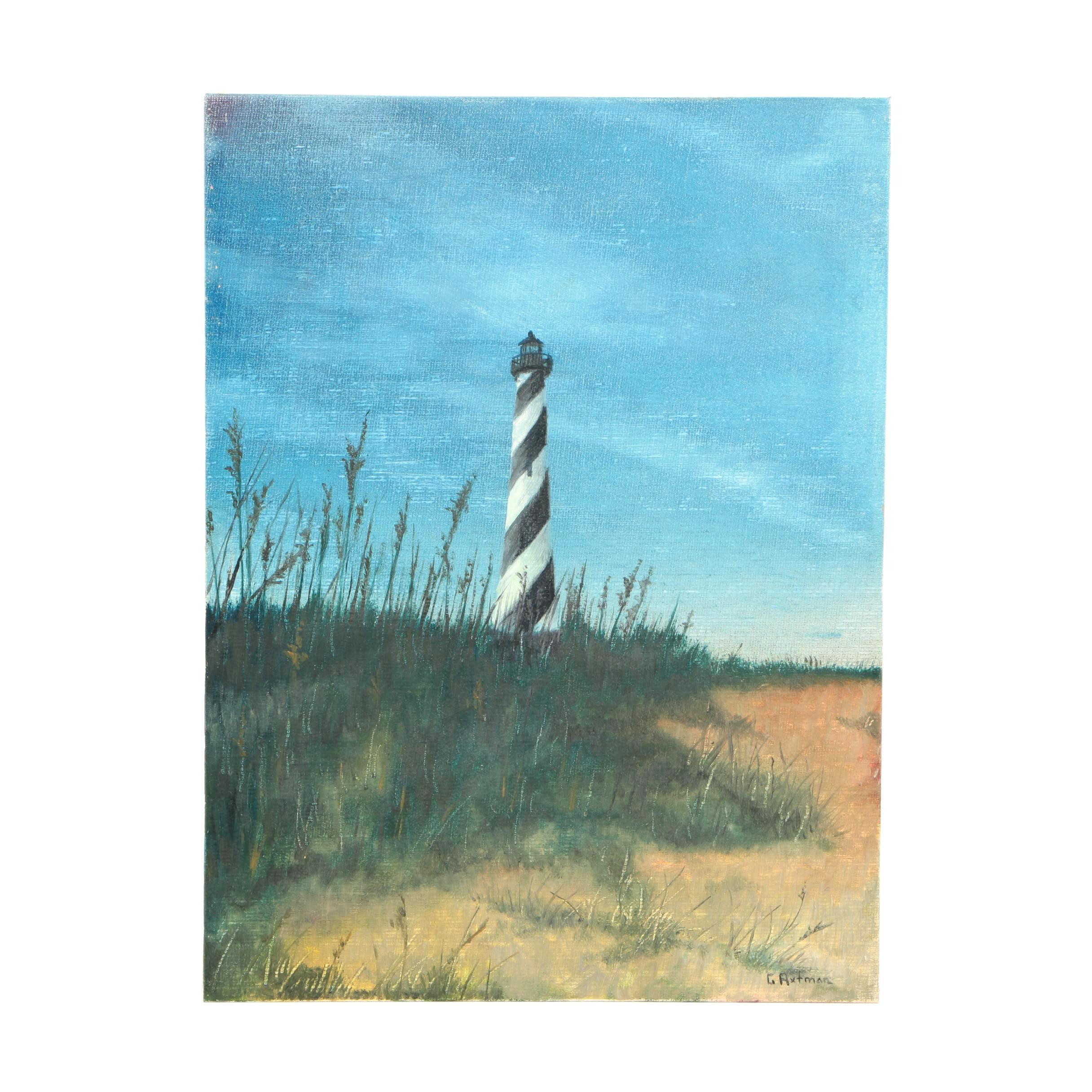 Gwendolyn Axtman Oil Painting of Lighthouse