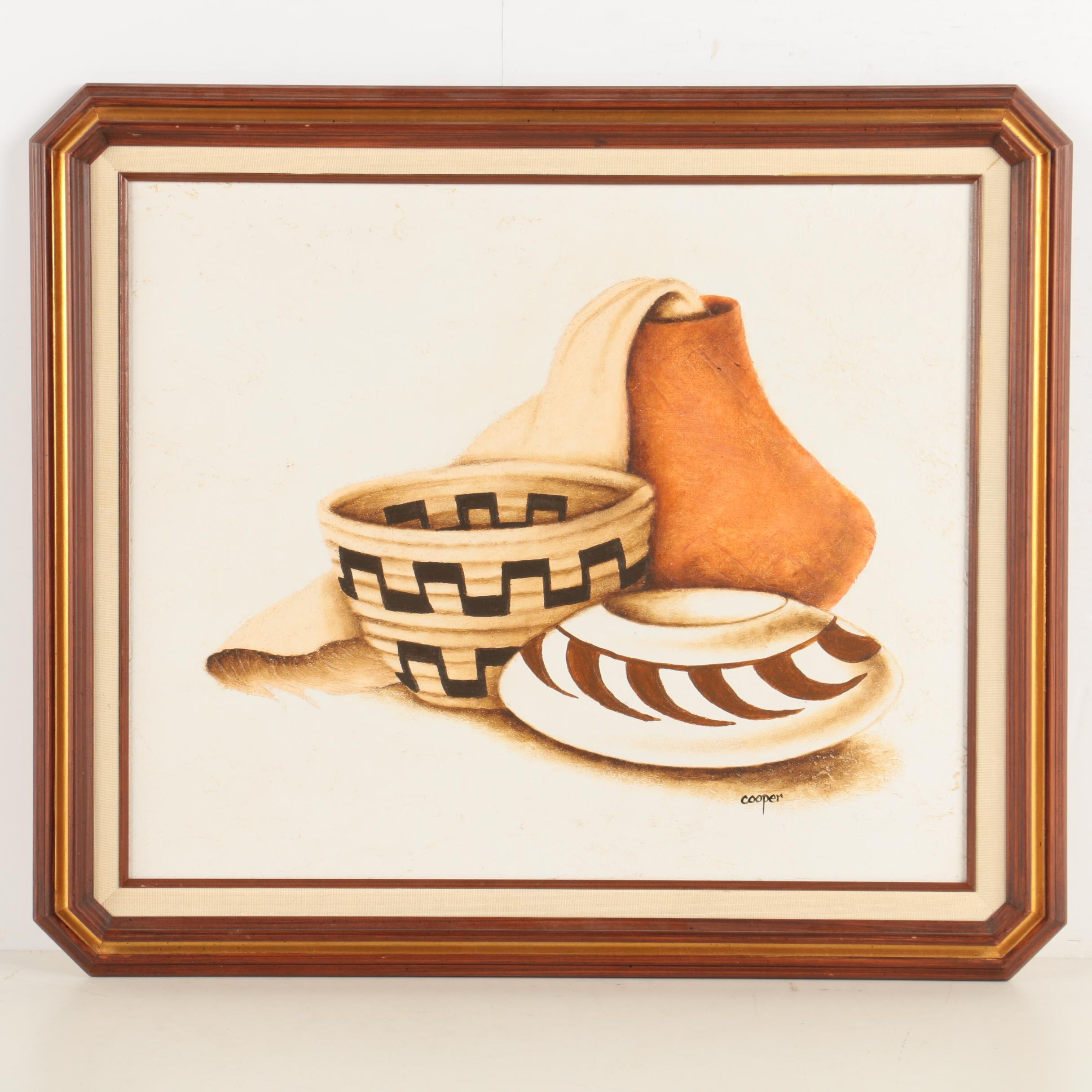 Cooper Oil Painting of Pottery