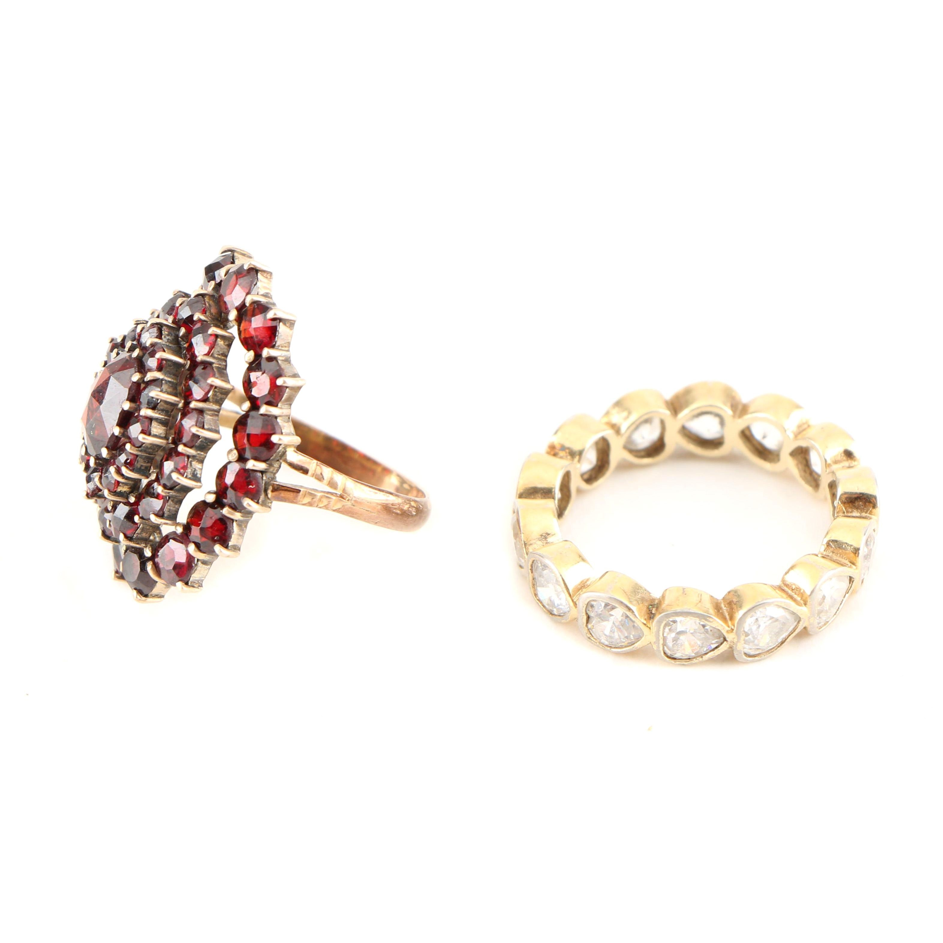 Vintage Costume Gemstone Rings