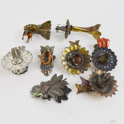 Vintage Metal Candle Clips