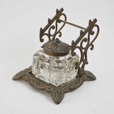 Image result for victorian brass ink pen holder