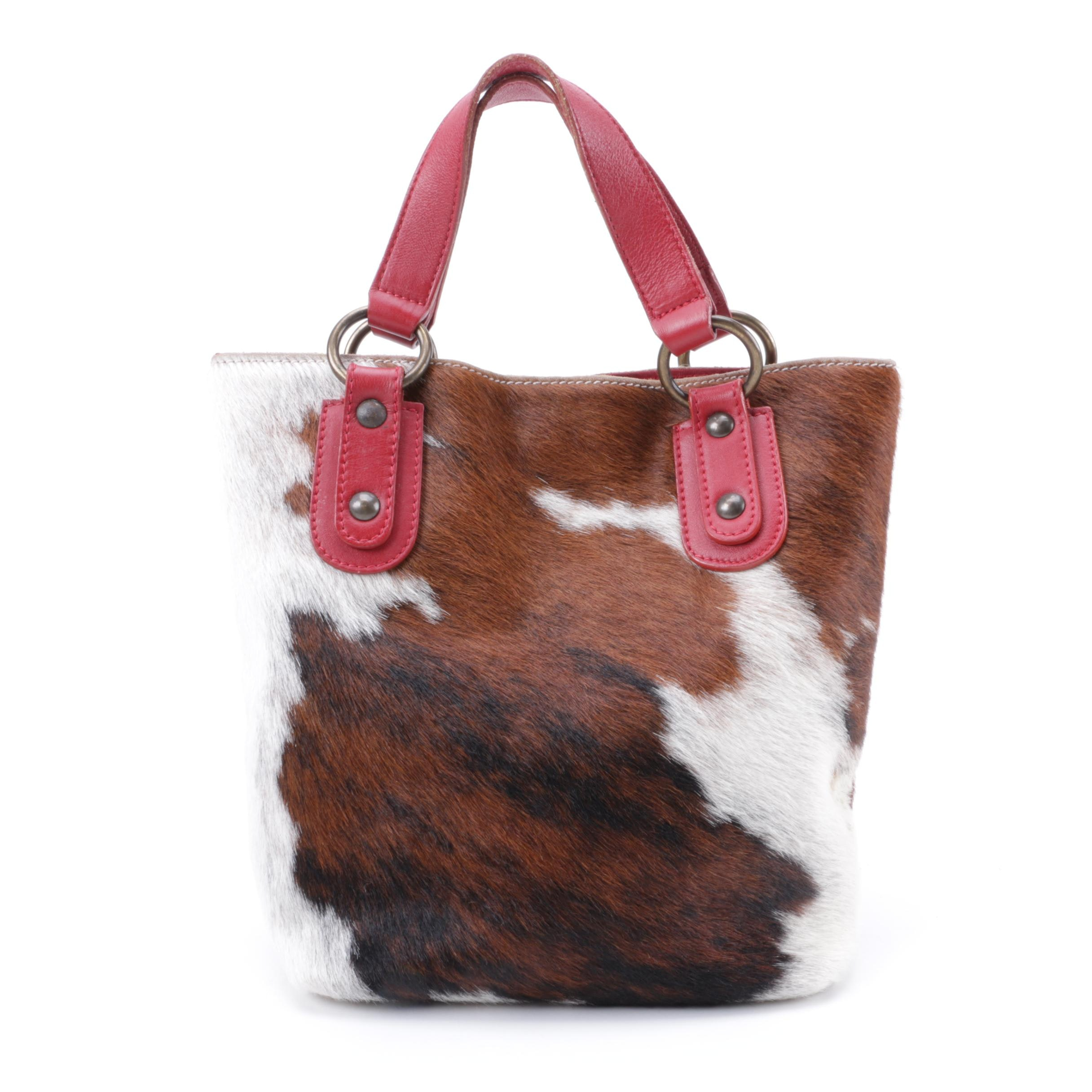Maurizio Taiuti Calfskin and Leather handbag