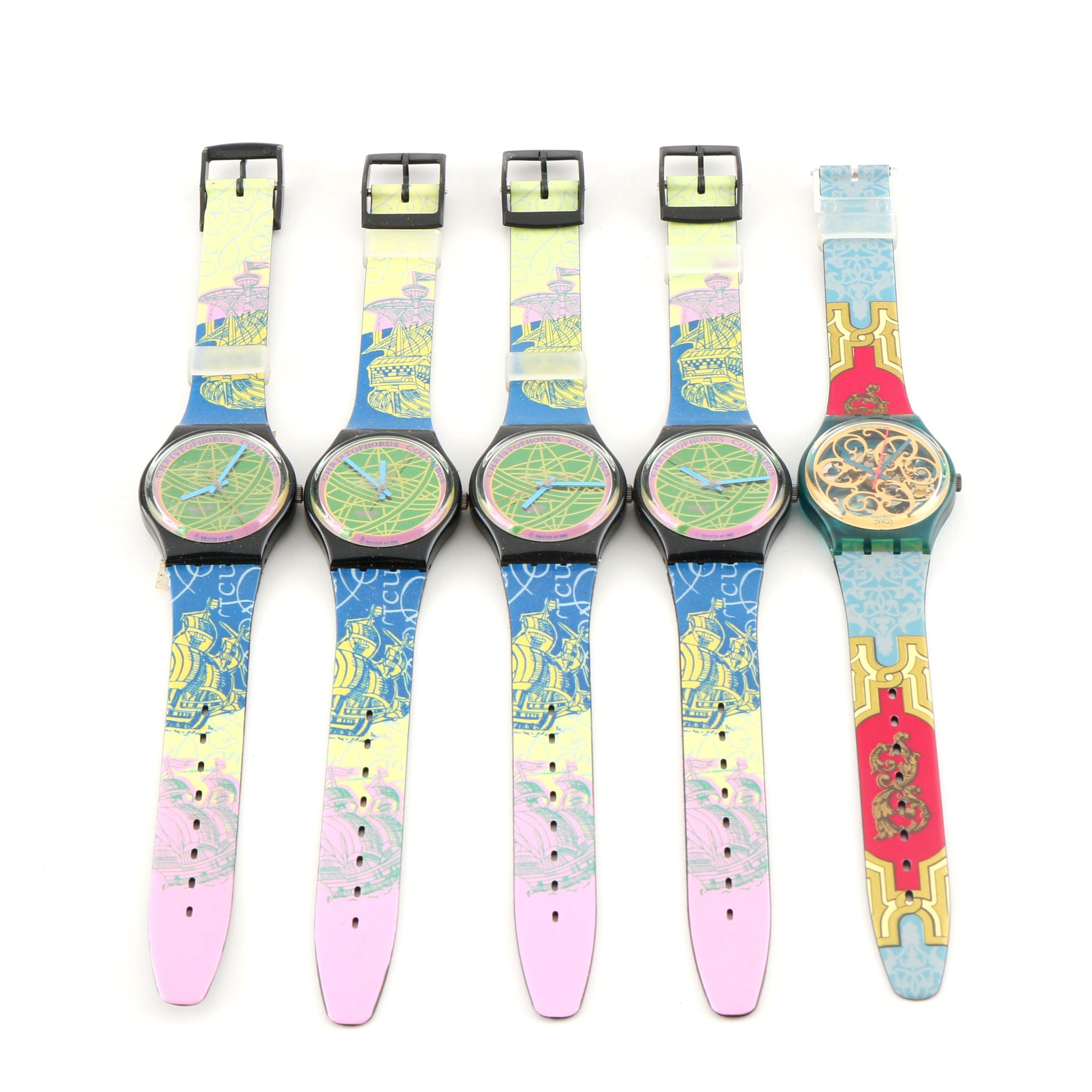 Collection of Vintage Swatch Wristwatches