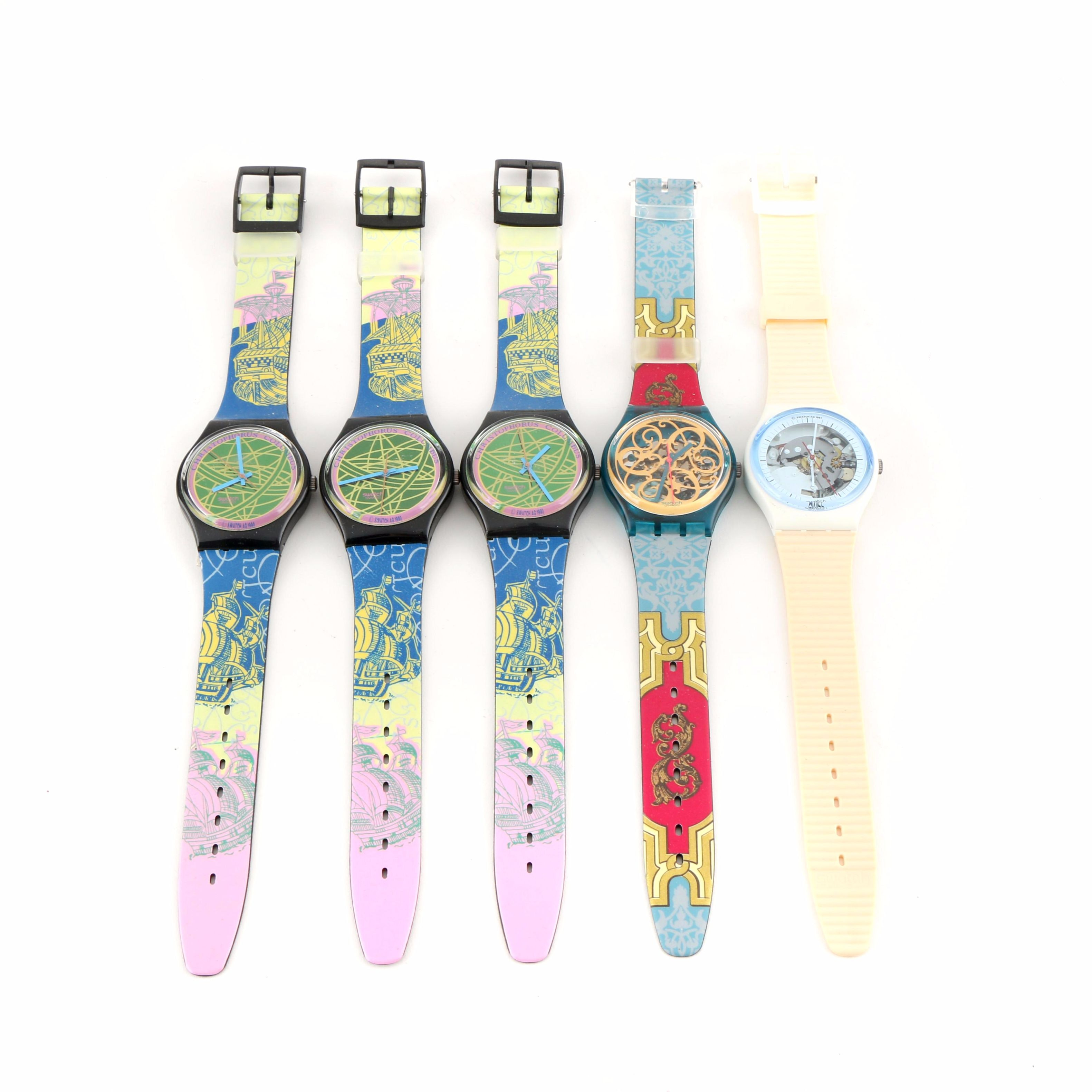 Selection of Vintage Swatch Wristwatches