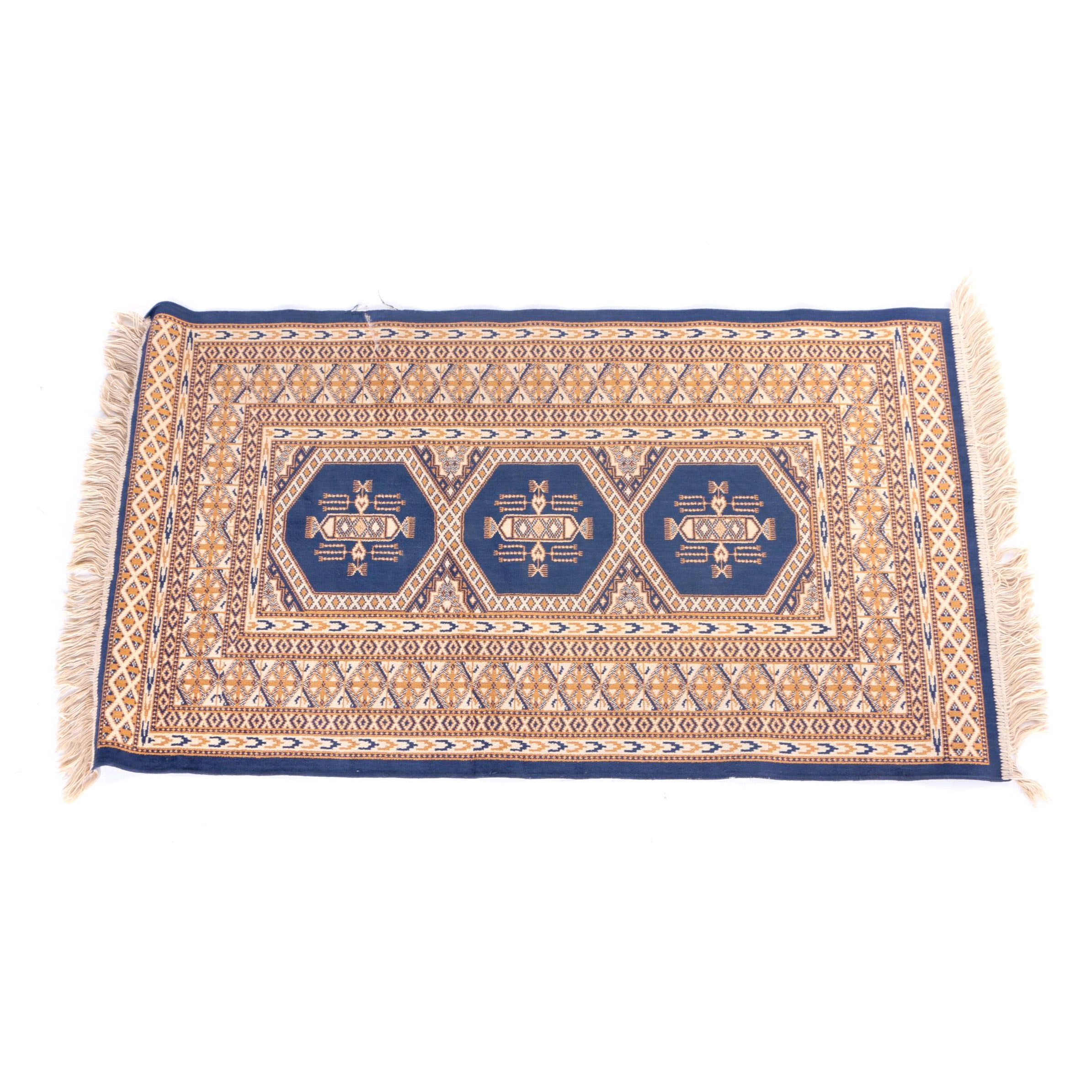 Power-Loomed Turkmen Style Accent Rug