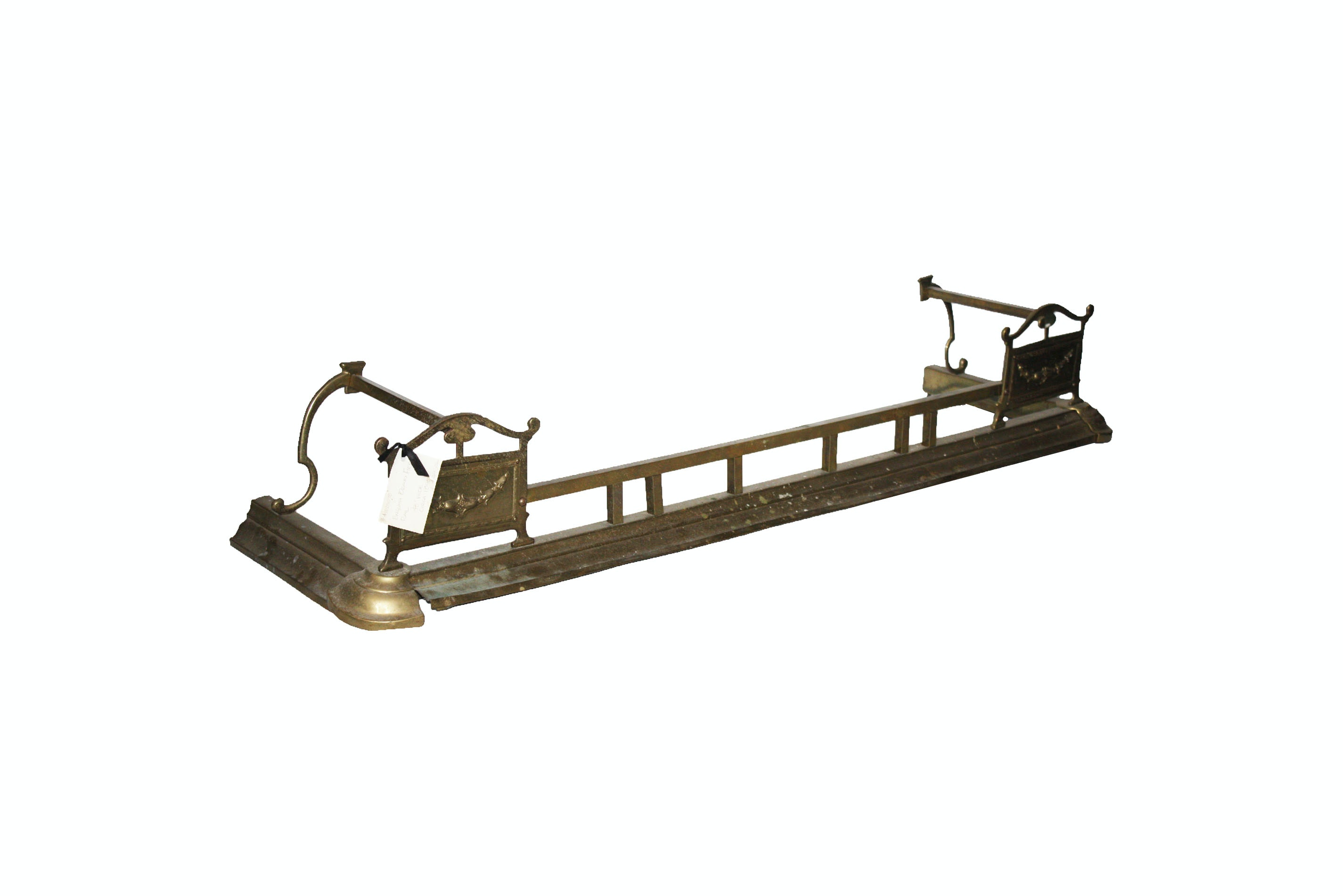 Antique English Brass Fire Rail
