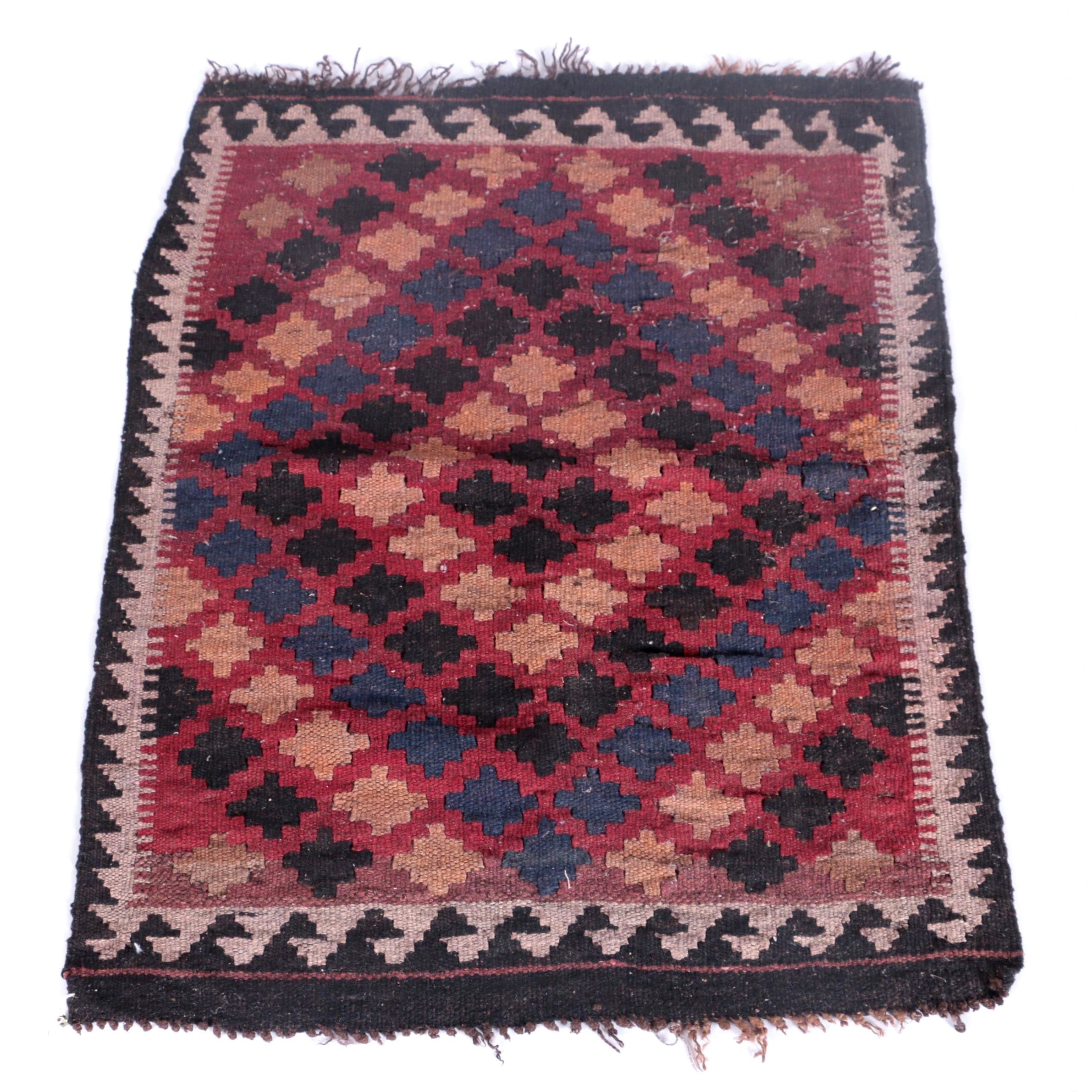 Handwoven Turkish Kilim Wool Mat