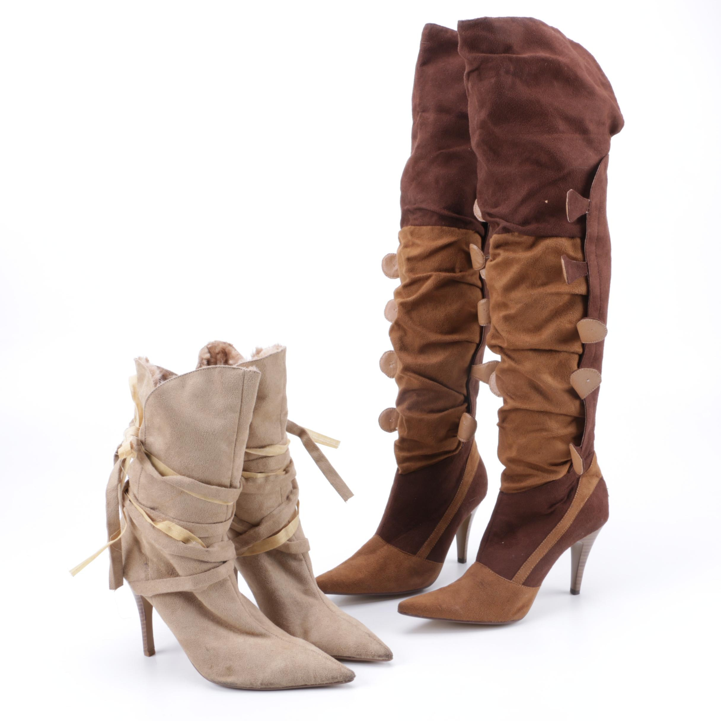 Women's Faux Suede High Heel Boots