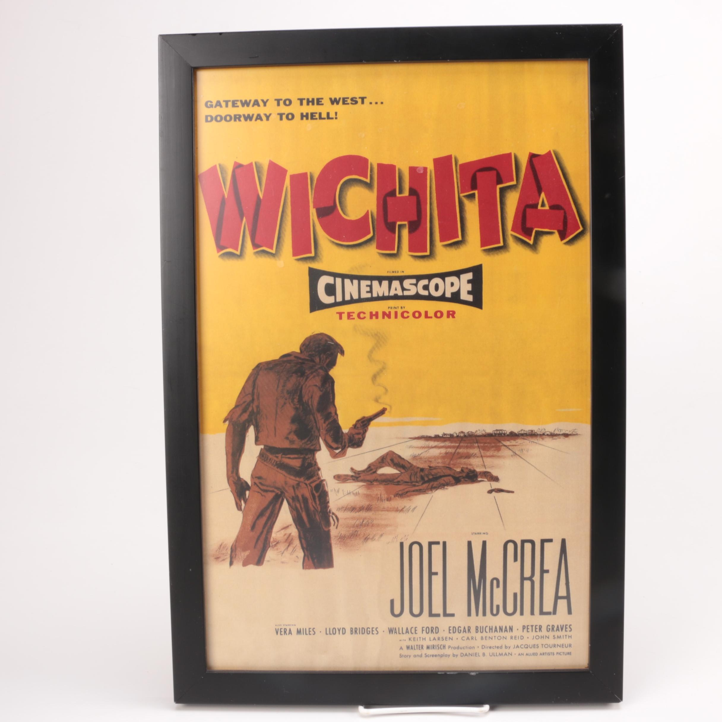 "Framed 1955 ""Wichita"" Movie Poster"