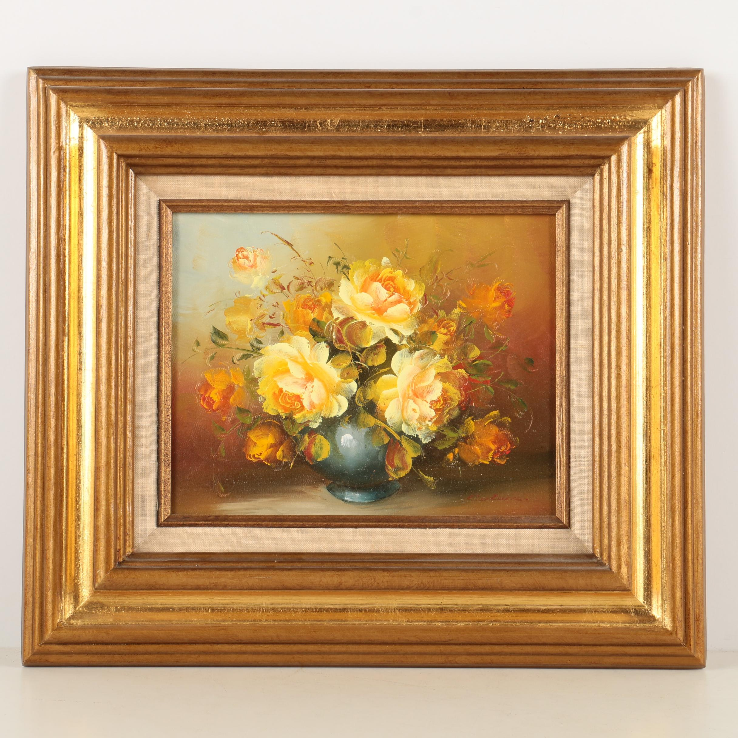 Oil Painting of Floral Arrangement